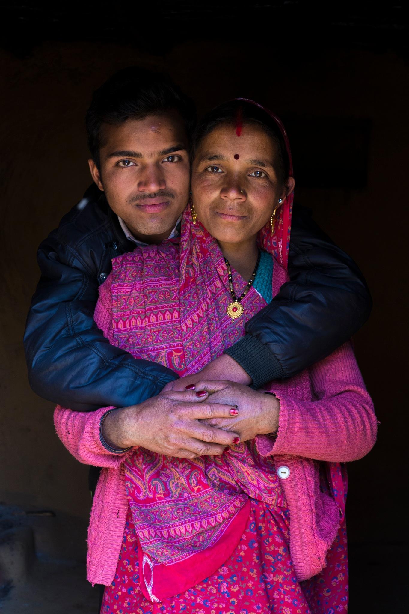 mom and son by Makesh Bala Murugan