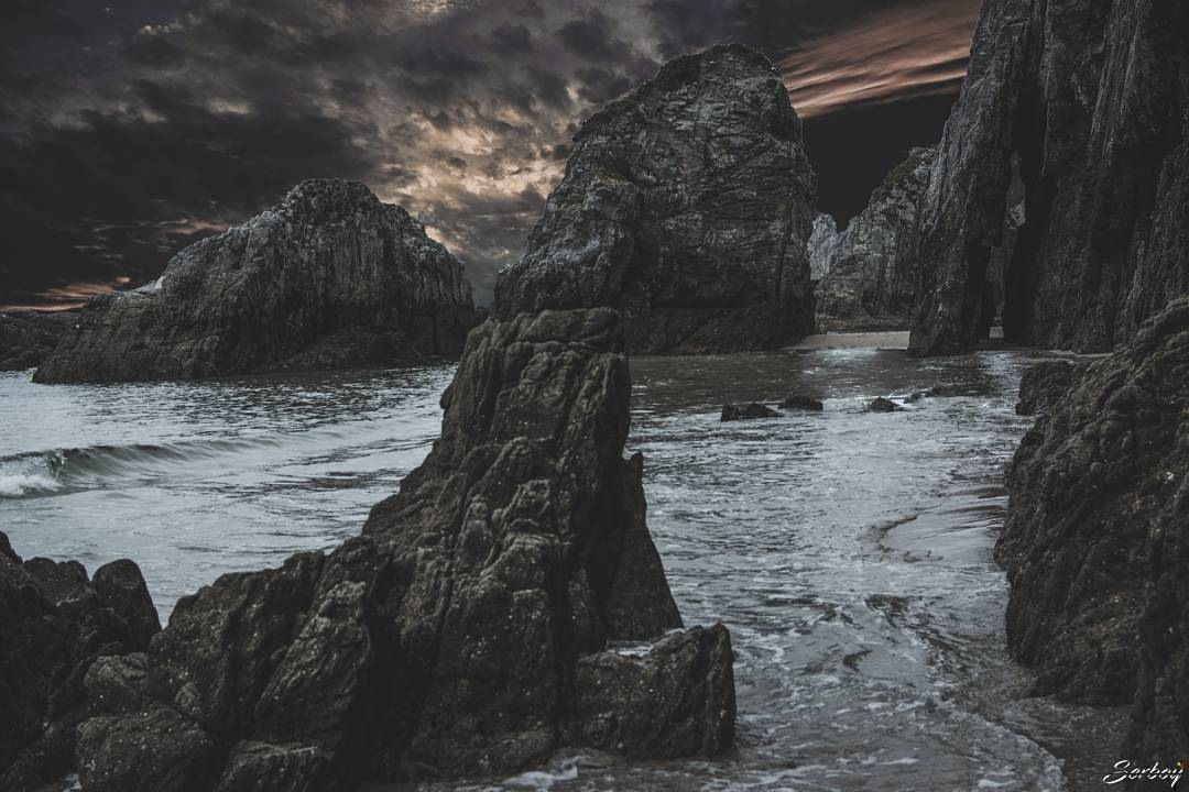 Asturian beach by Serboyphoto