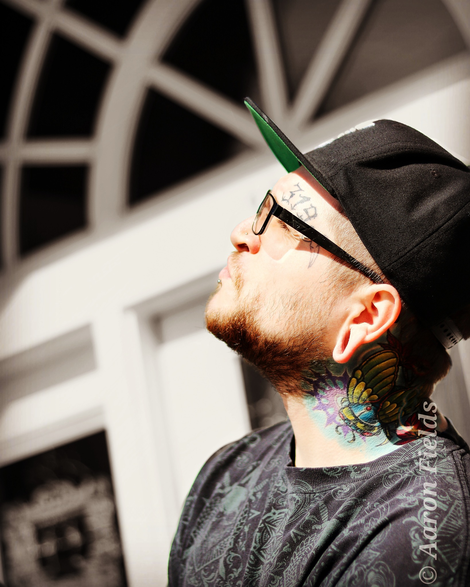 Andrew Ronnenberg of leftys tattoo shop  by Aaron fields