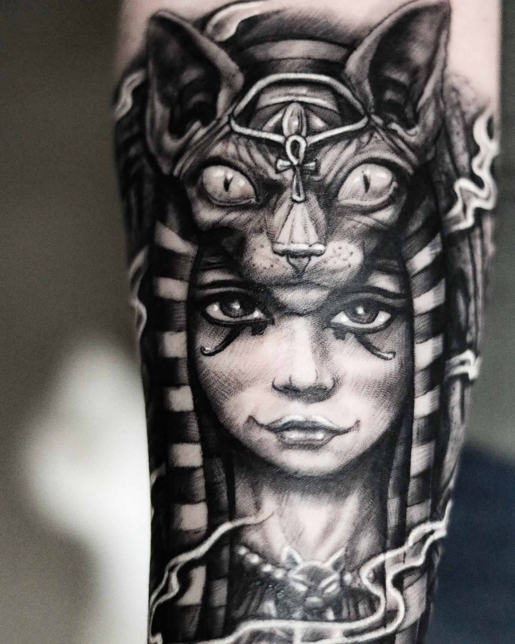 my wife's new tattoo by Aaron fields