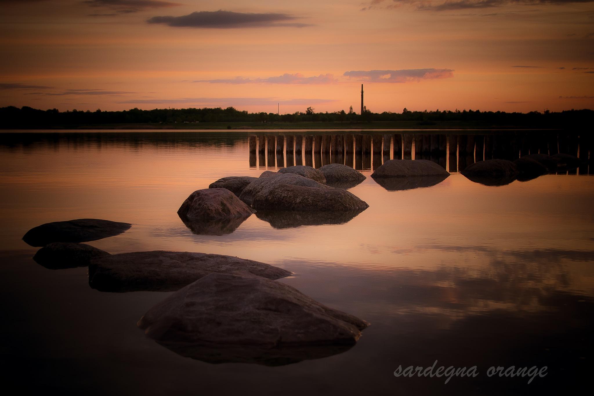stones by sardegna:orange & jo:black