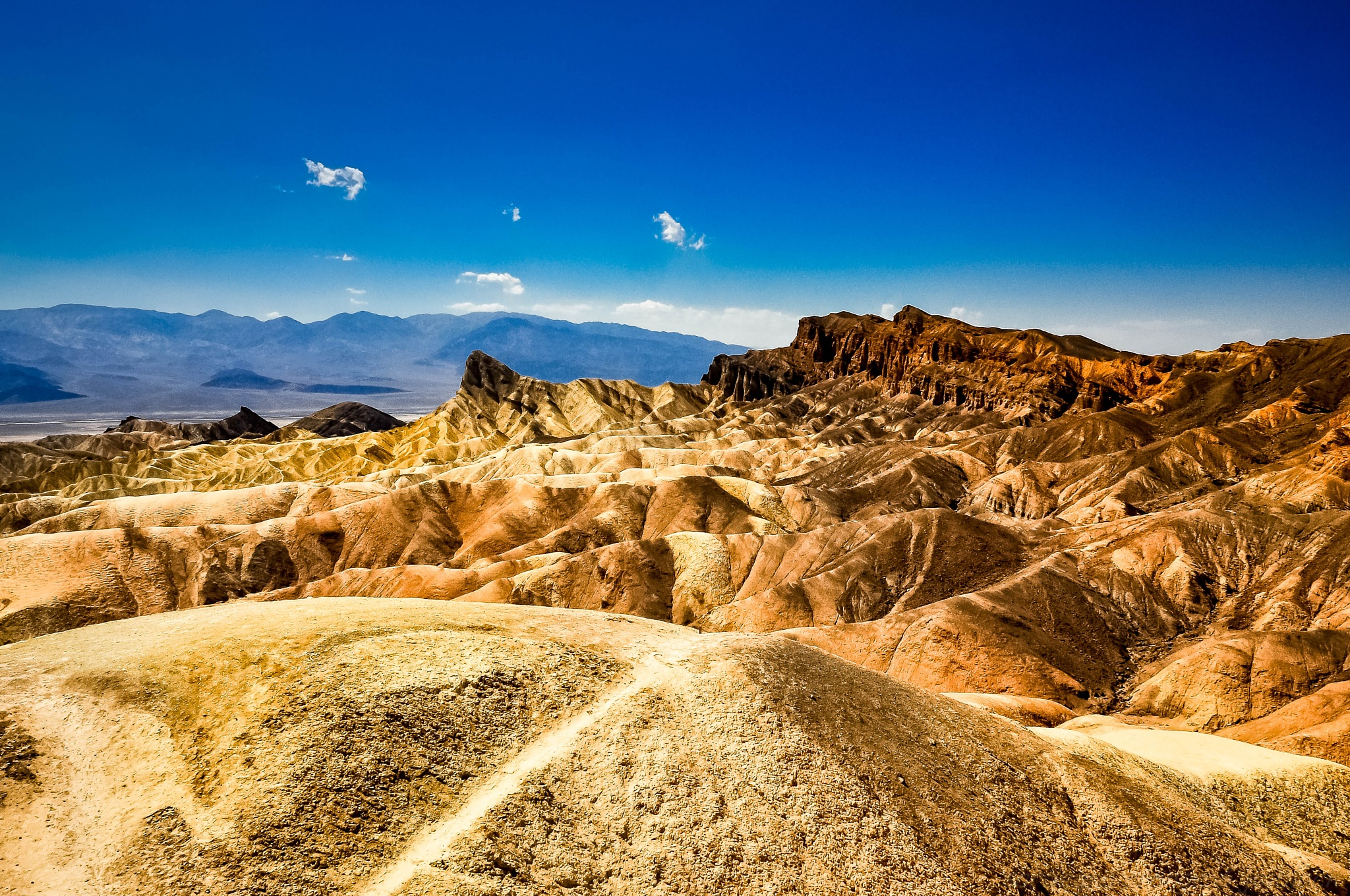 Photo in Landscape #death valley #zabriskie point #usa #desert #sediments