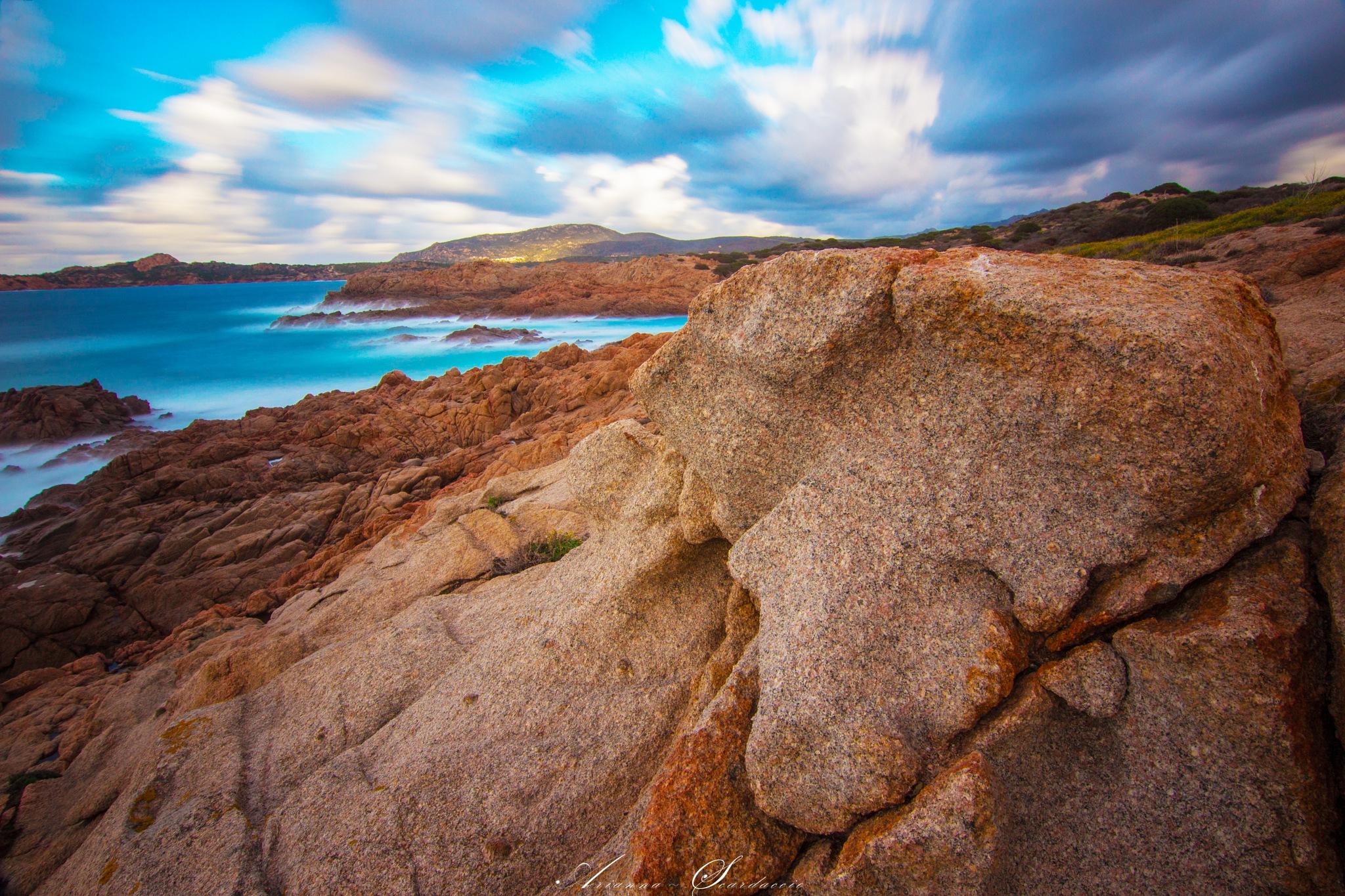 Sky, sea and rocks  by Arianna Scardaccio