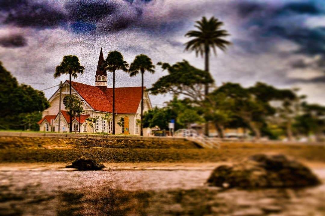 church on the beach  by Brodie