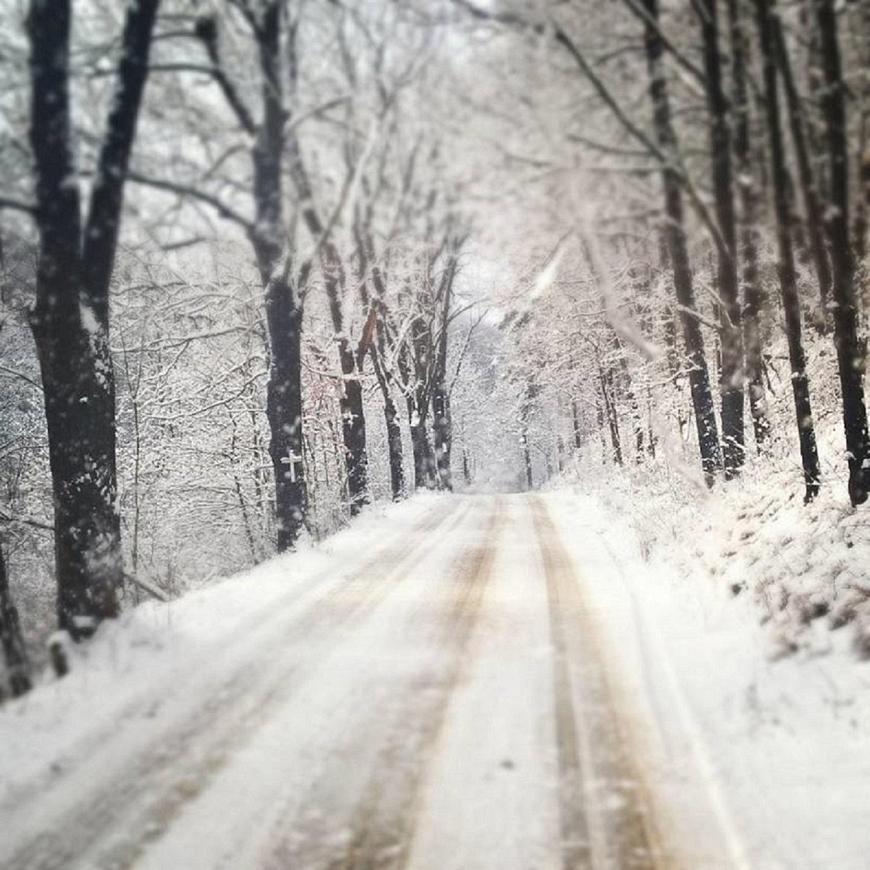 Snowy road by Jolanta Placek