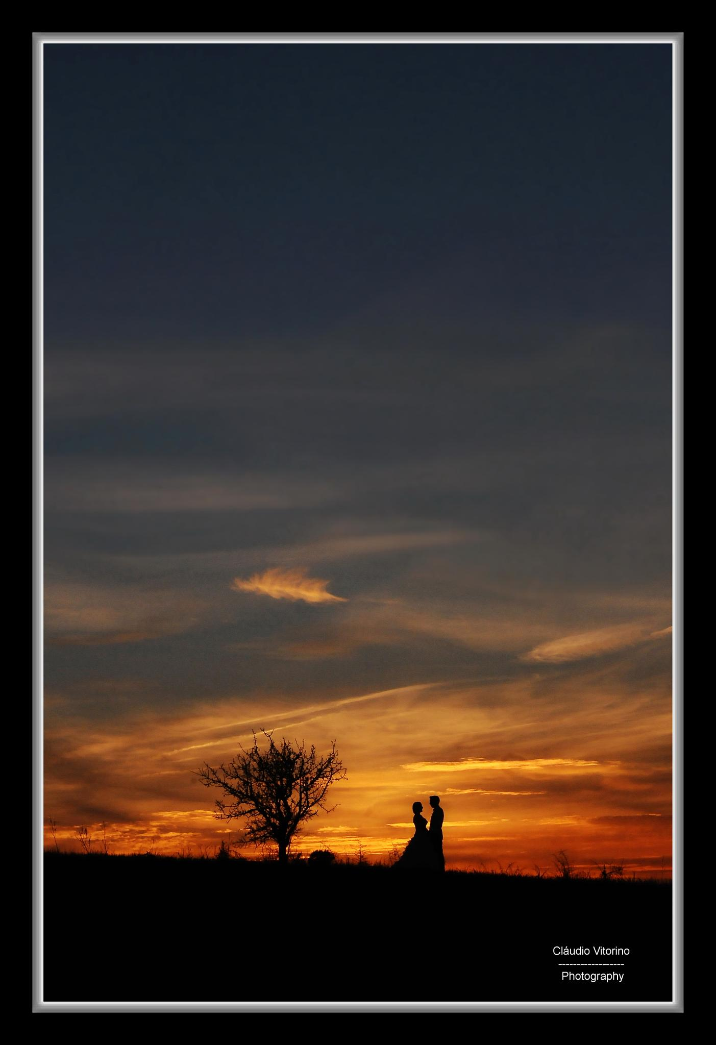Photo in Wedding #trash the dress #sunset #marriage