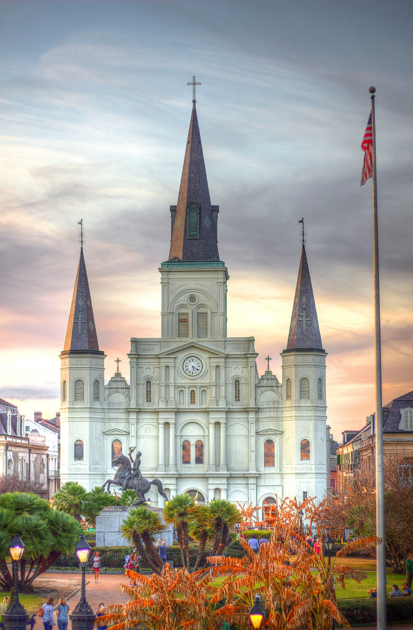St.Louis Cathedral - Jackson Square by Ashwin Sivakumar
