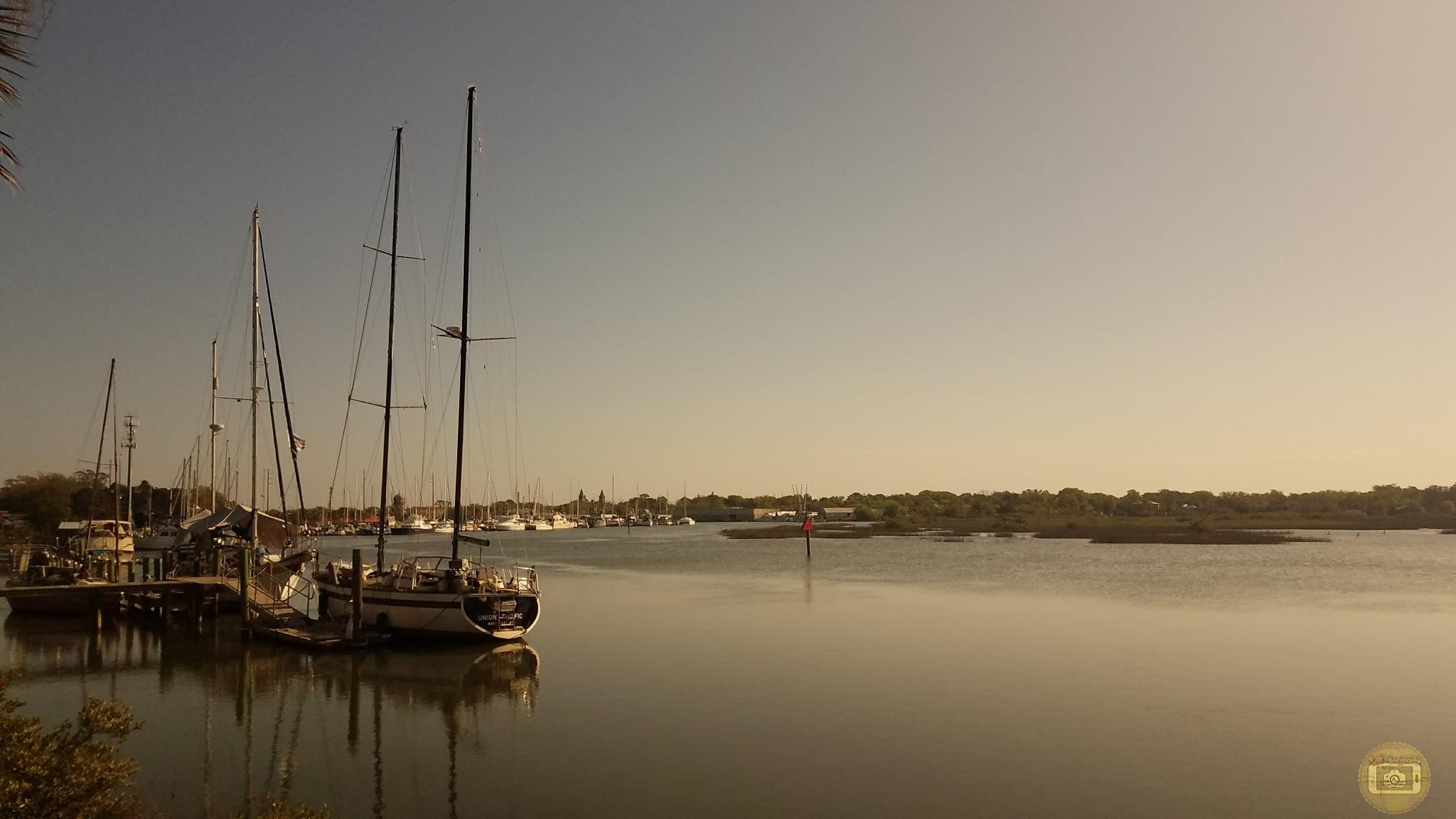 Docked Boats  by KMPhotography