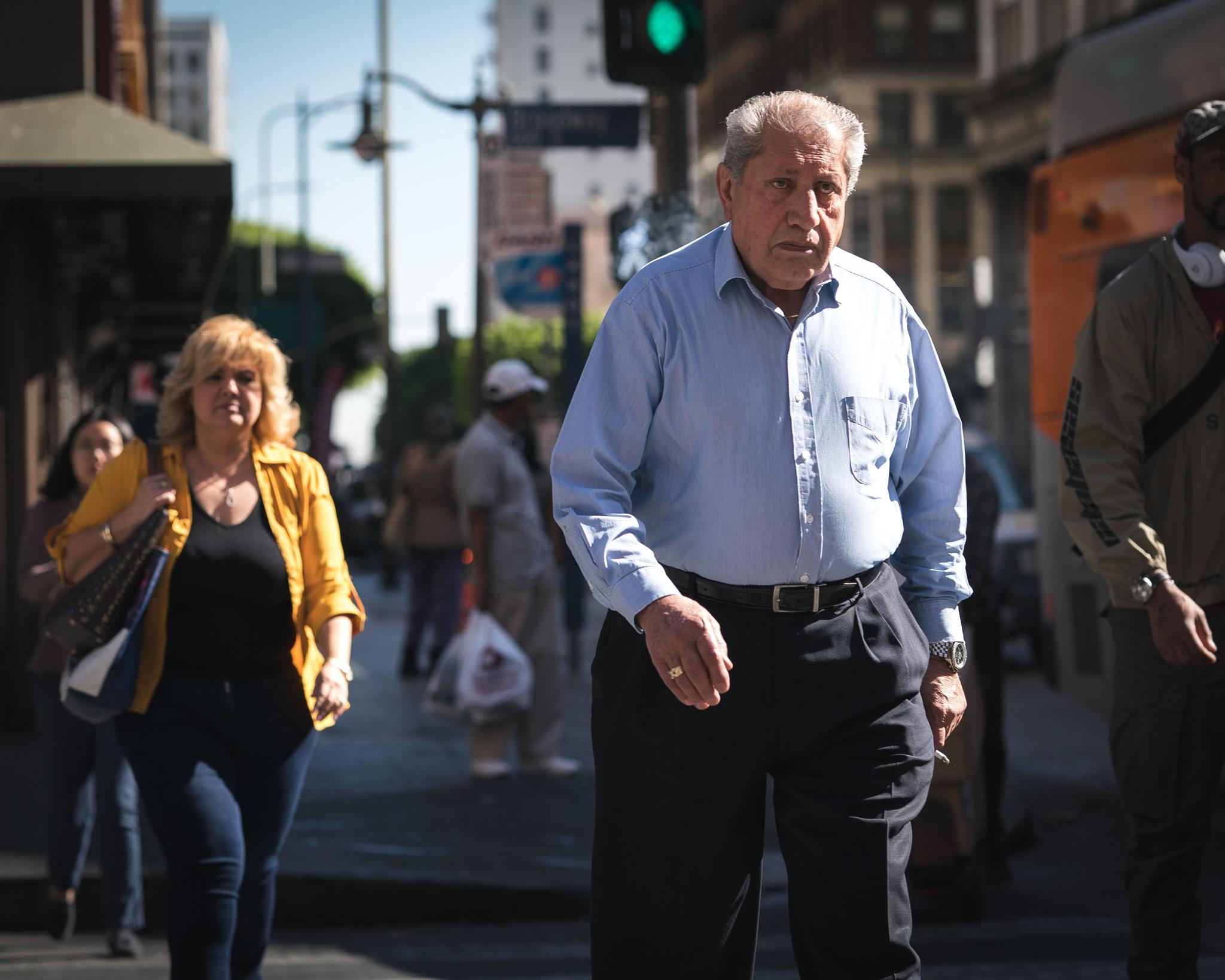LA commuters  by James Wilkinson