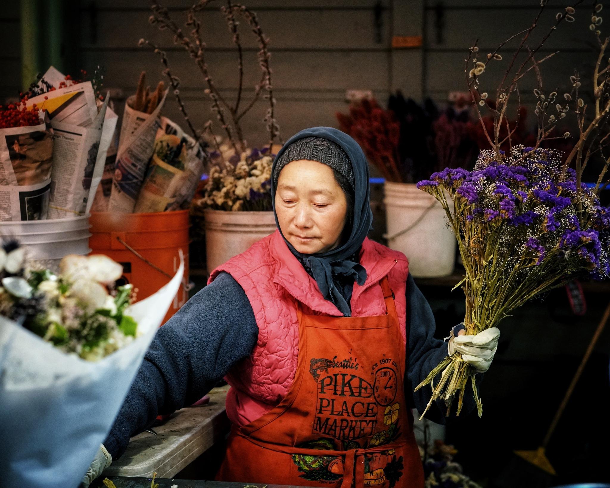 Flower lady by James Wilkinson