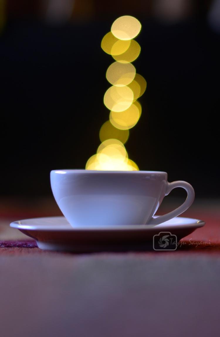 Cup and Bokeh by Tayju Sayami