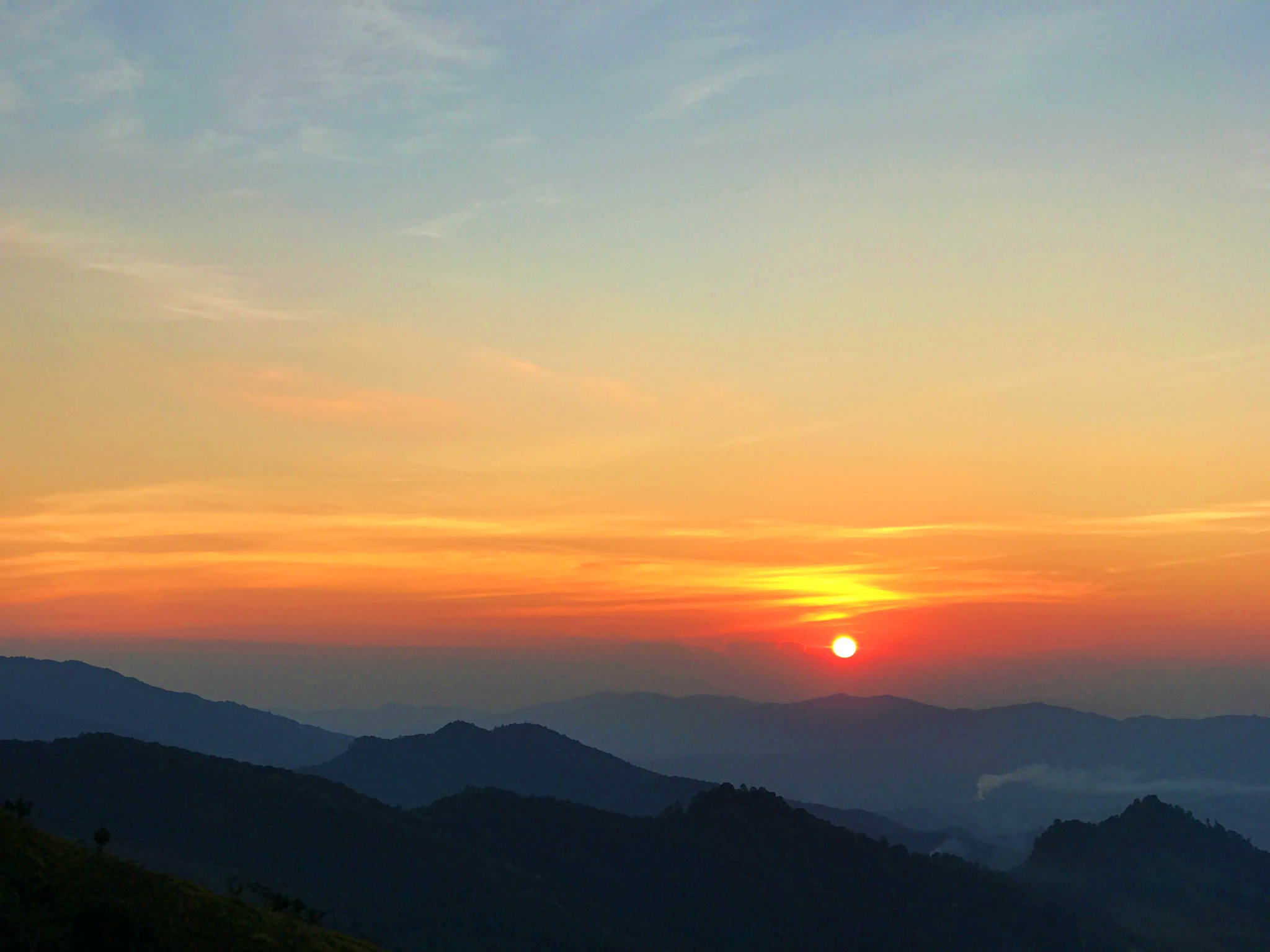 Sunset over the mountain by SOE AUNG LIN