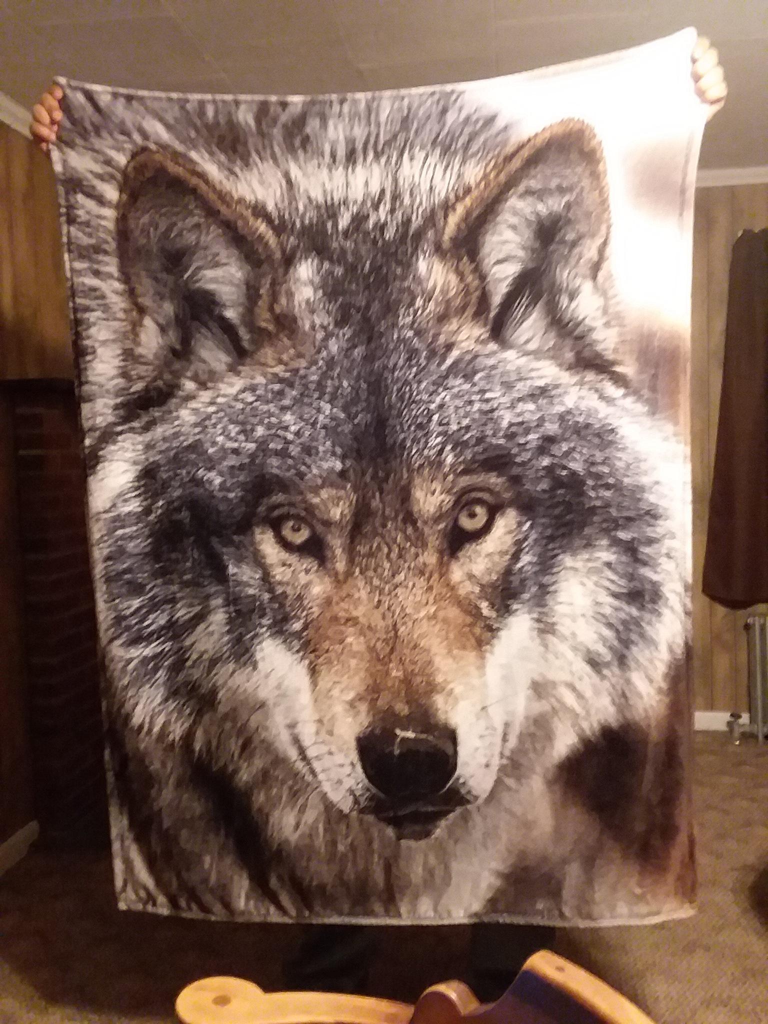 wolf blanket by redbear2018
