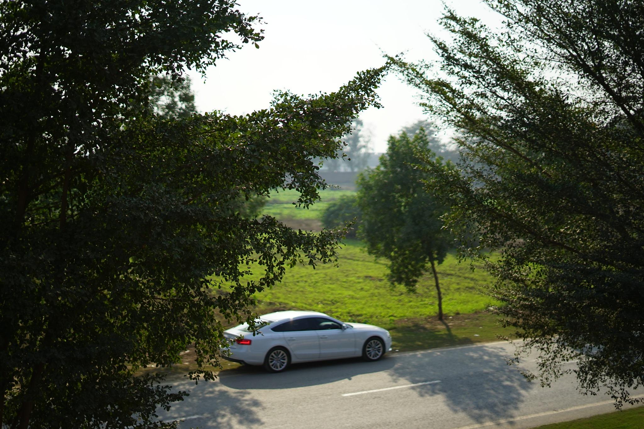 Driving by a farm by Talal Ahmad