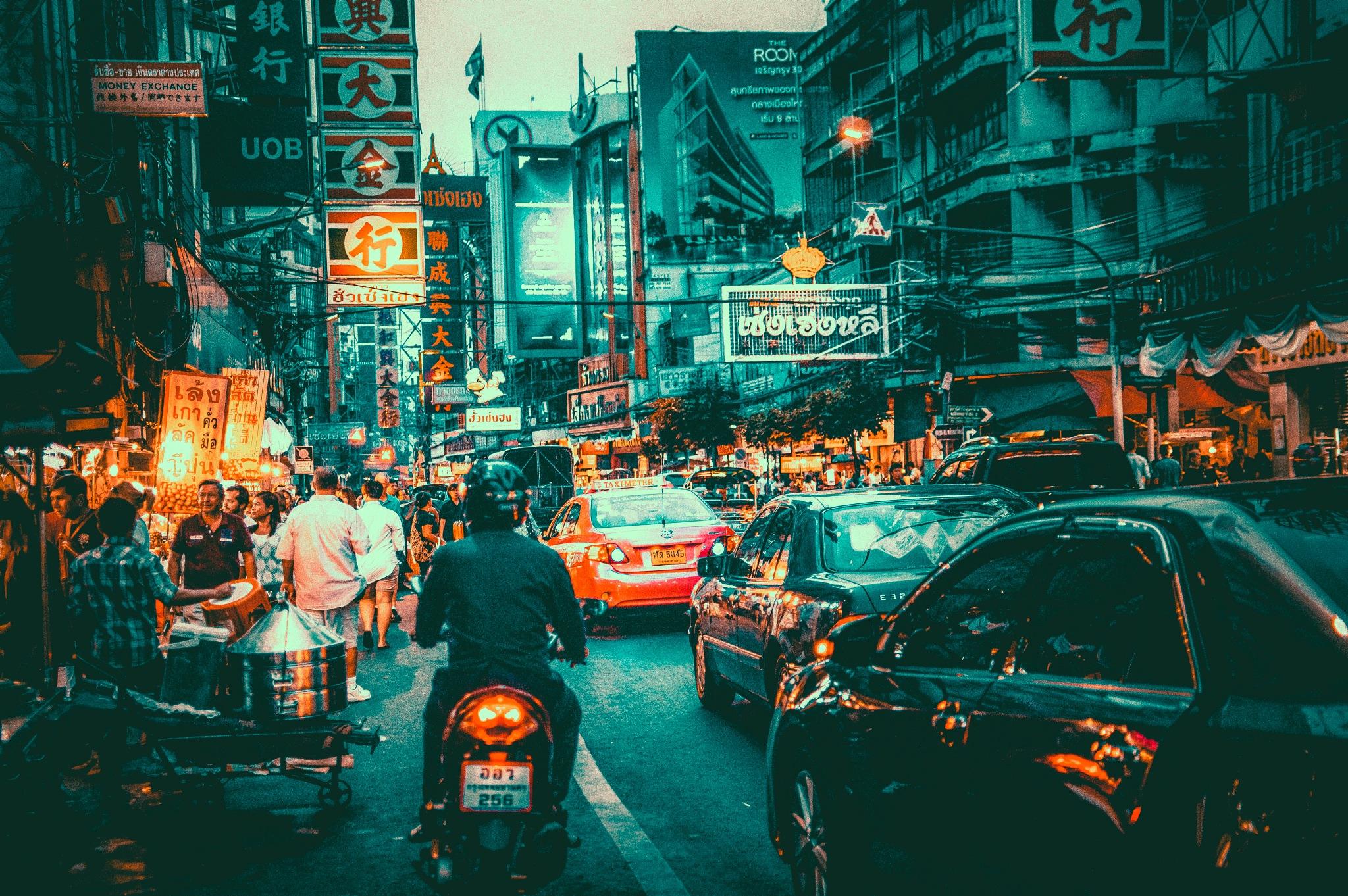 Night In The Asia In My Way by Mladen Stojanović