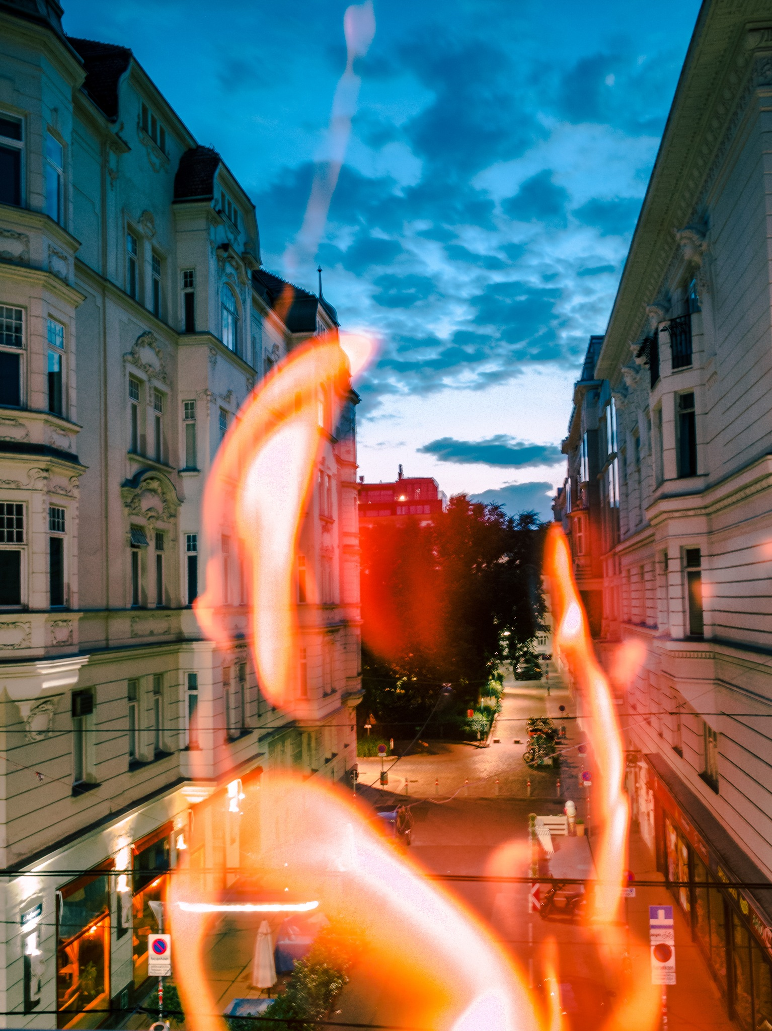 Long Exposure Flames  by Marcel Hess