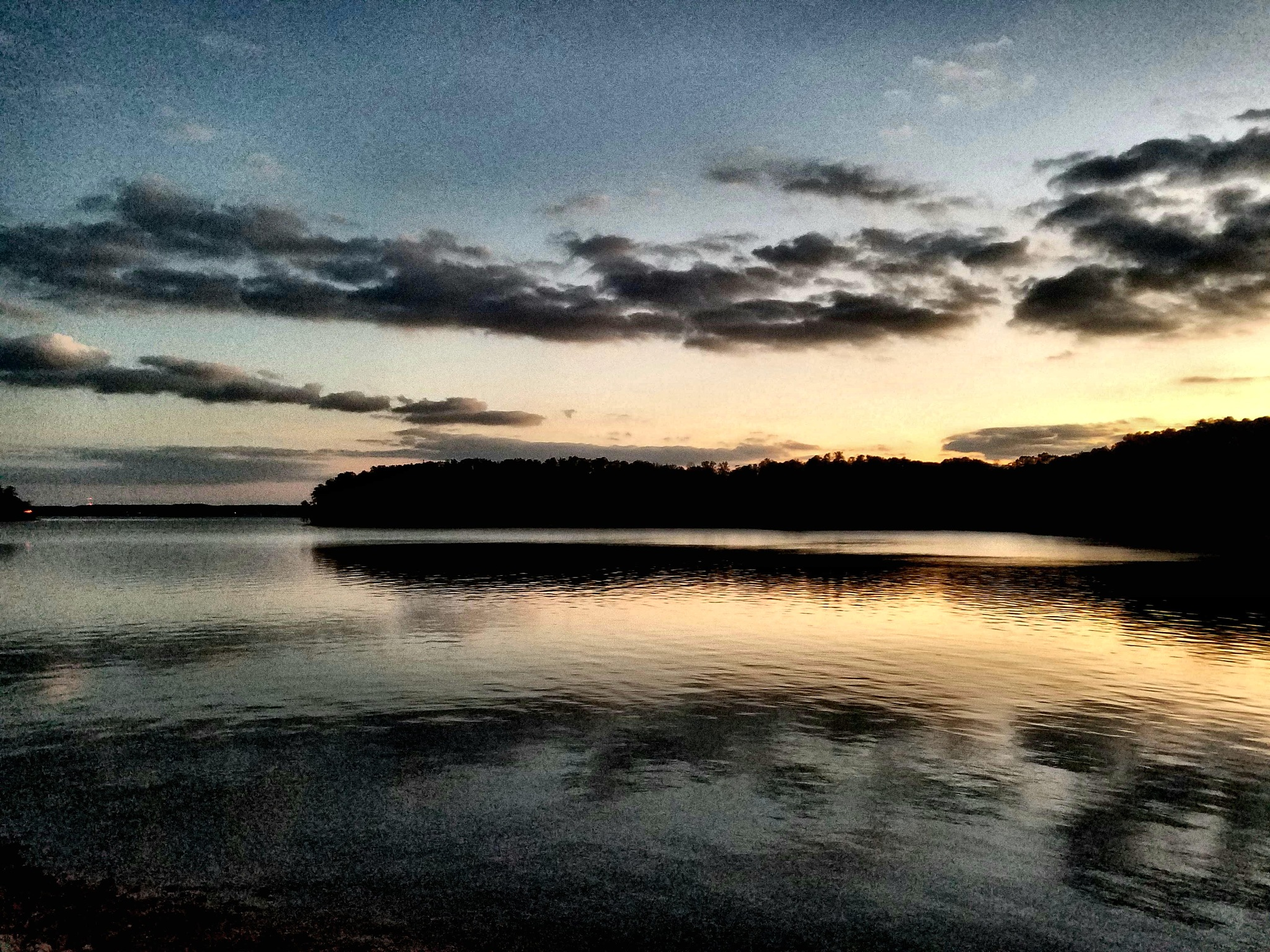 Reflections at dusk. by H. Rippen