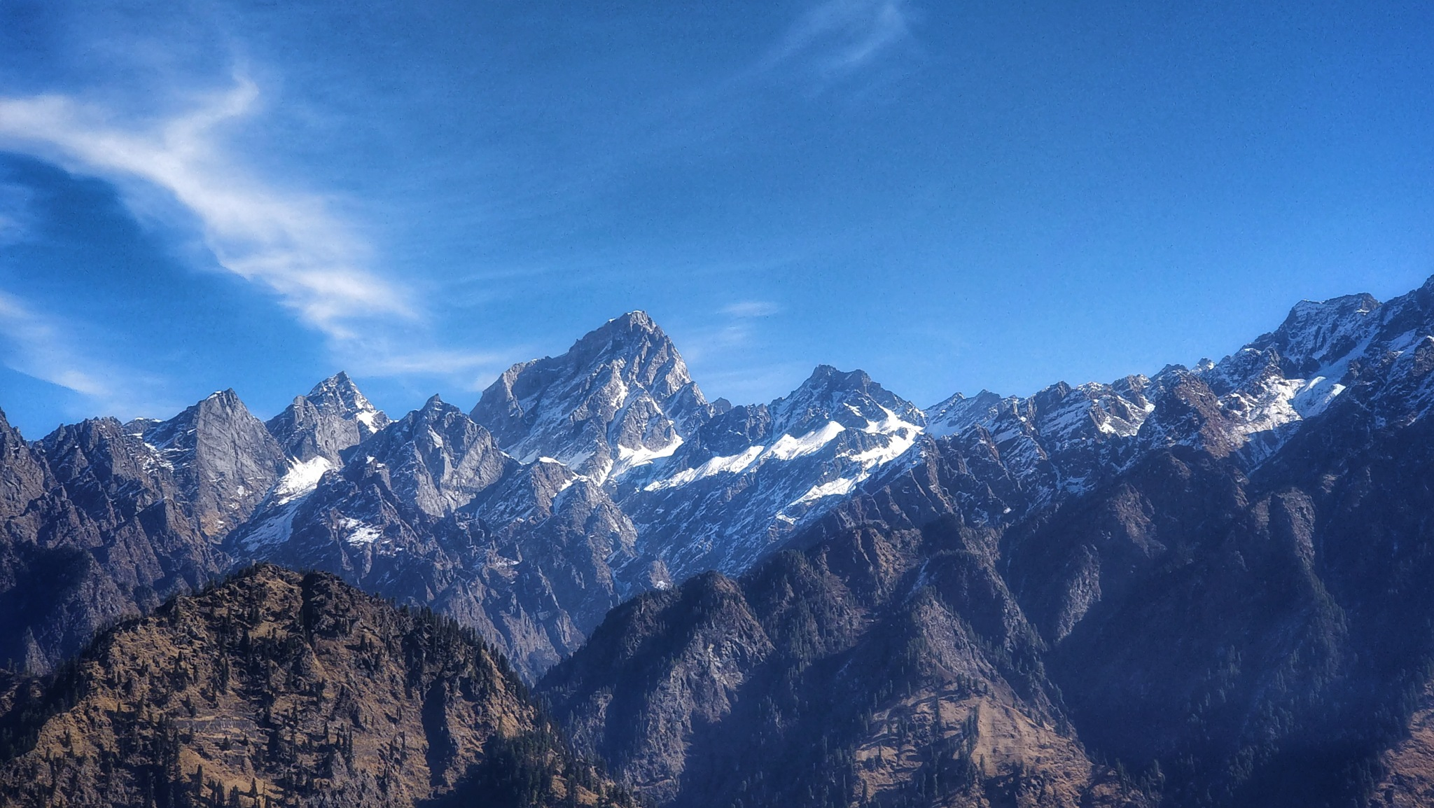 Thr mighty mountains by Aman Chaudhary