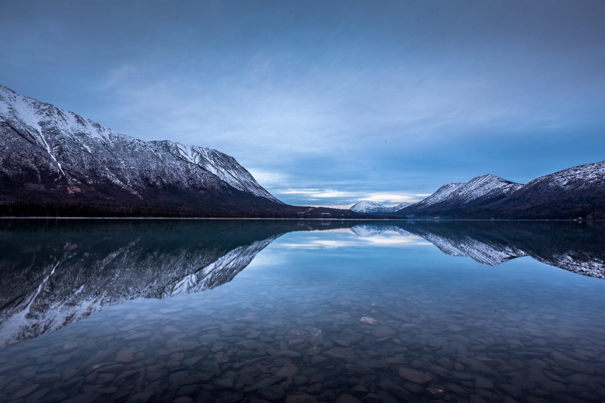 Kenai Lake, in Cooper Landing, Alaska by Justin Beyerlin