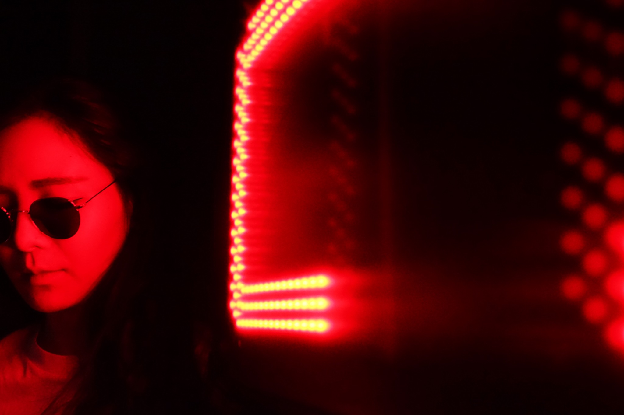 Under red light  by Alen Ovuka