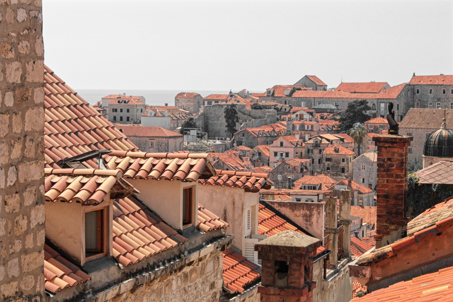 Dubrovnik's burnt rooftops by Aaron Blake