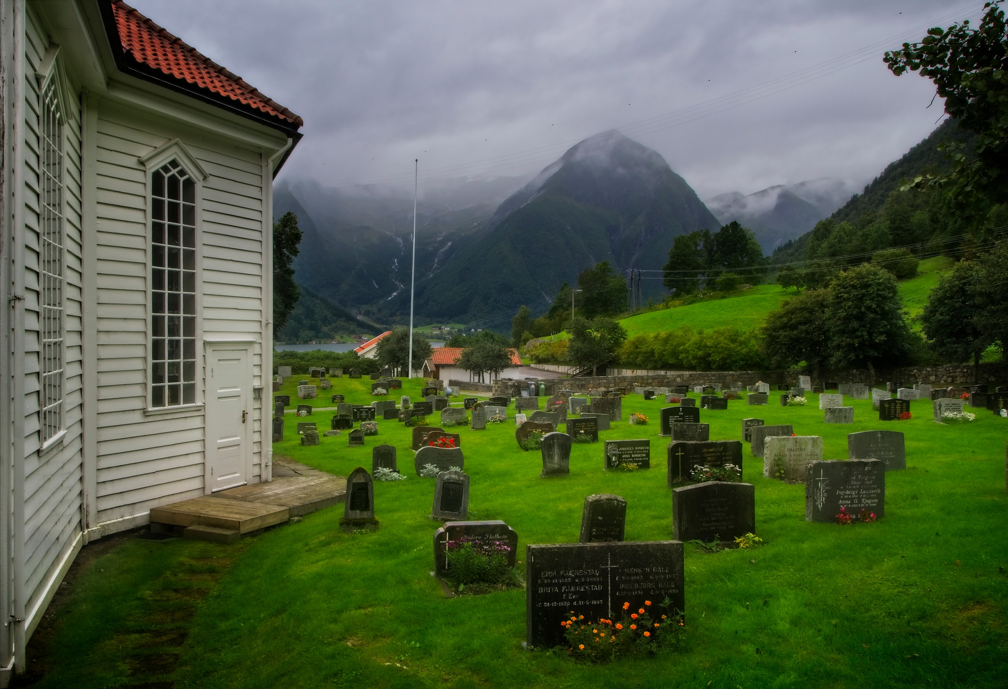 Mountains and Gravestones by Keith Page