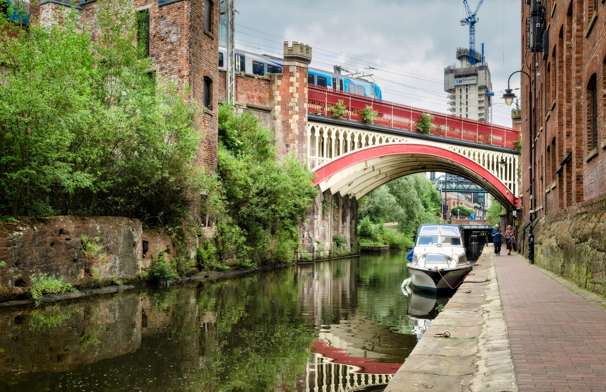 Reflections and railways by Keith Page