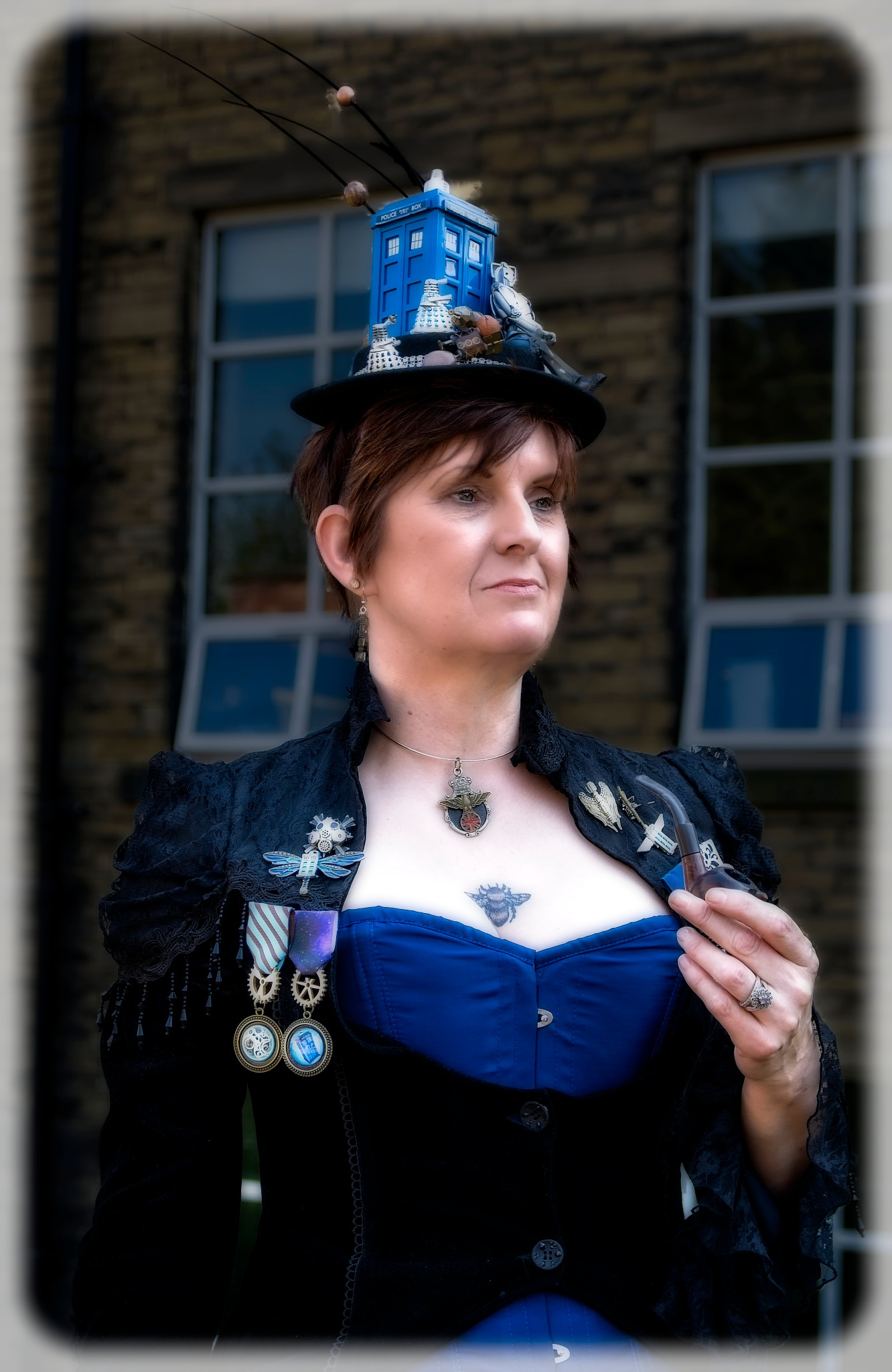 Photo in People #lady #steampunk #costume #womoan #dress #attire #dr who