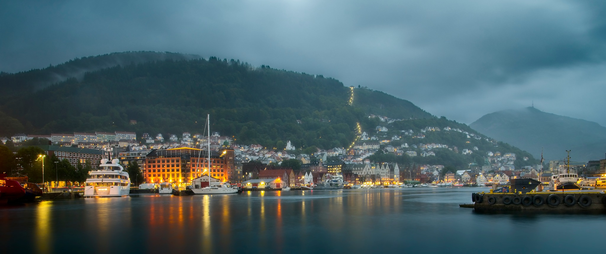 Bergen by Night by Keith Page