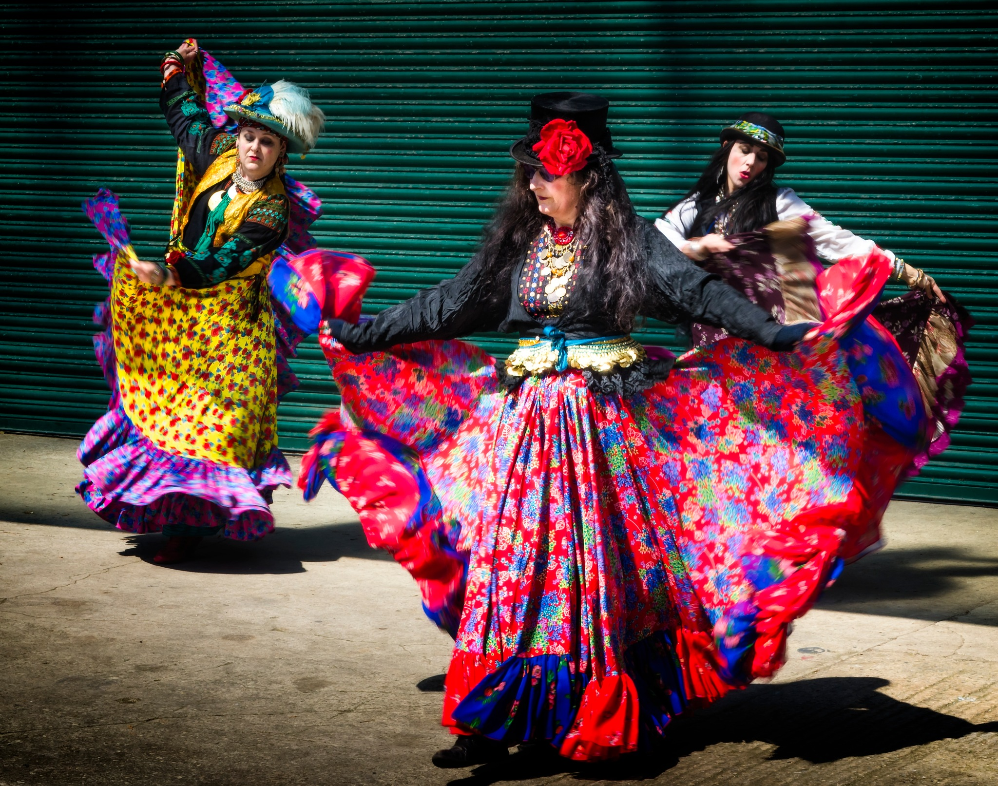 Photo in People #dance #gypsy #colour #color #dress #costume