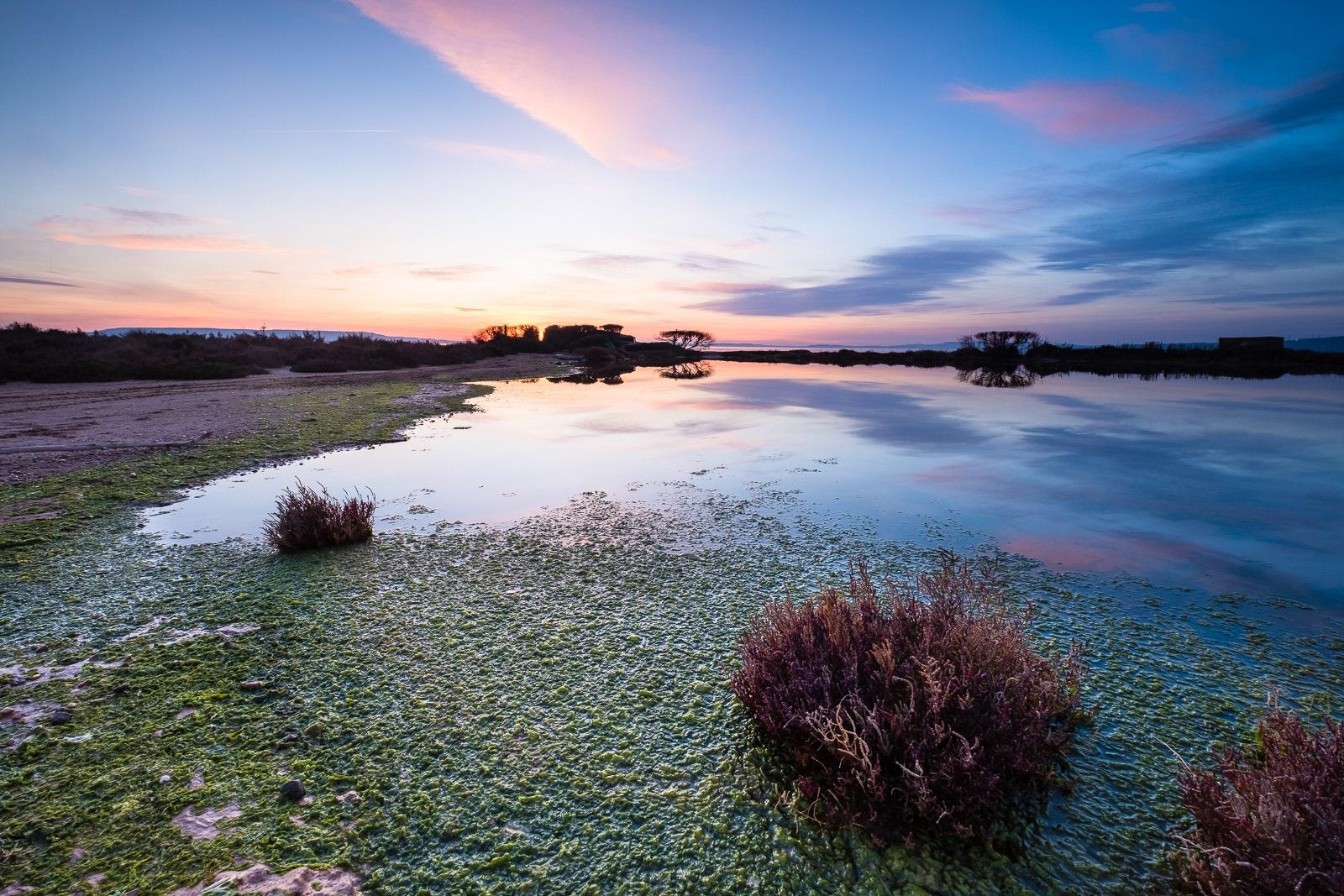 Photo in Landscape #sunset #reflection #provence