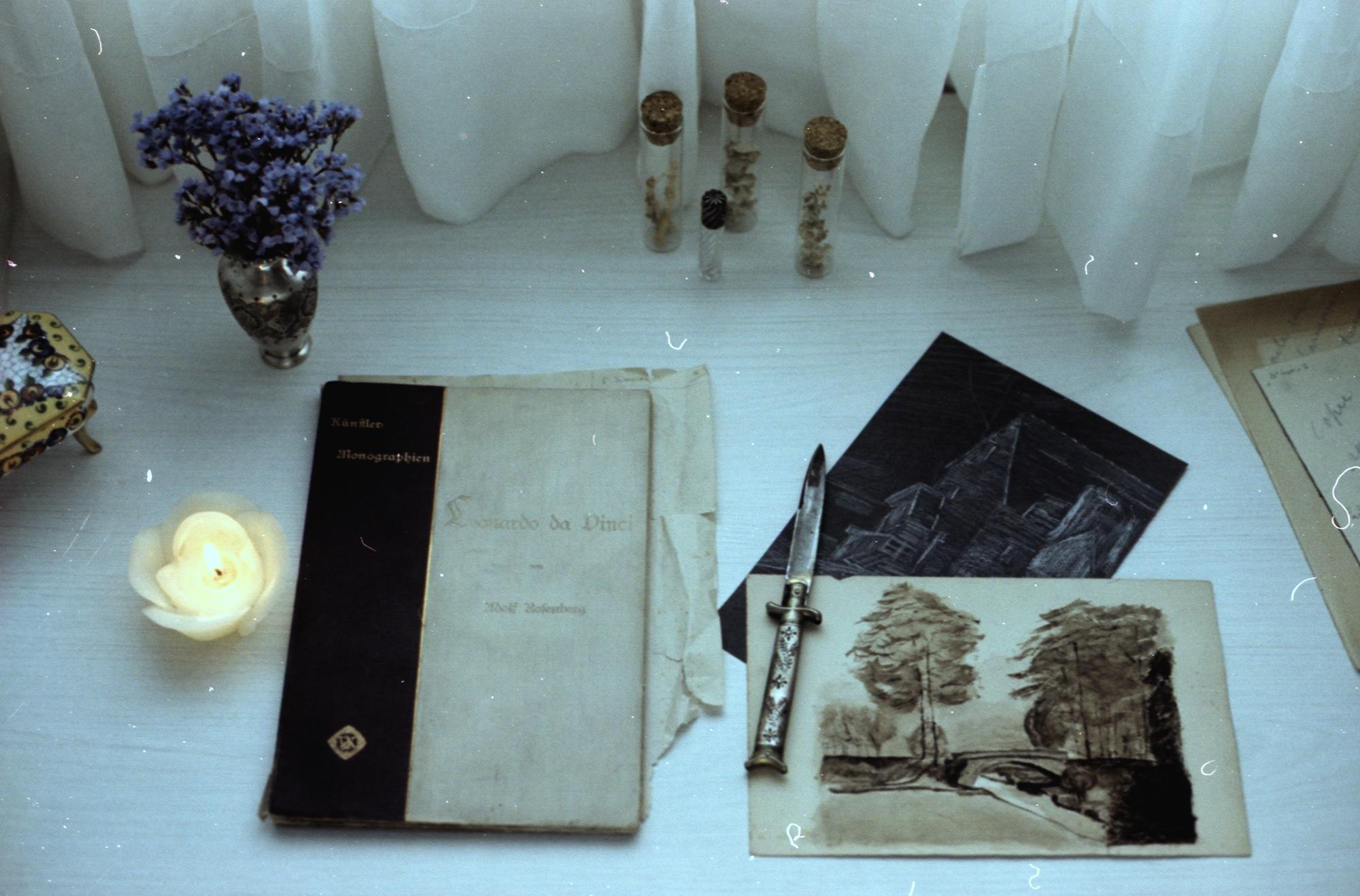 Photo in Film #antique #book #film #35mm #eerie #still life