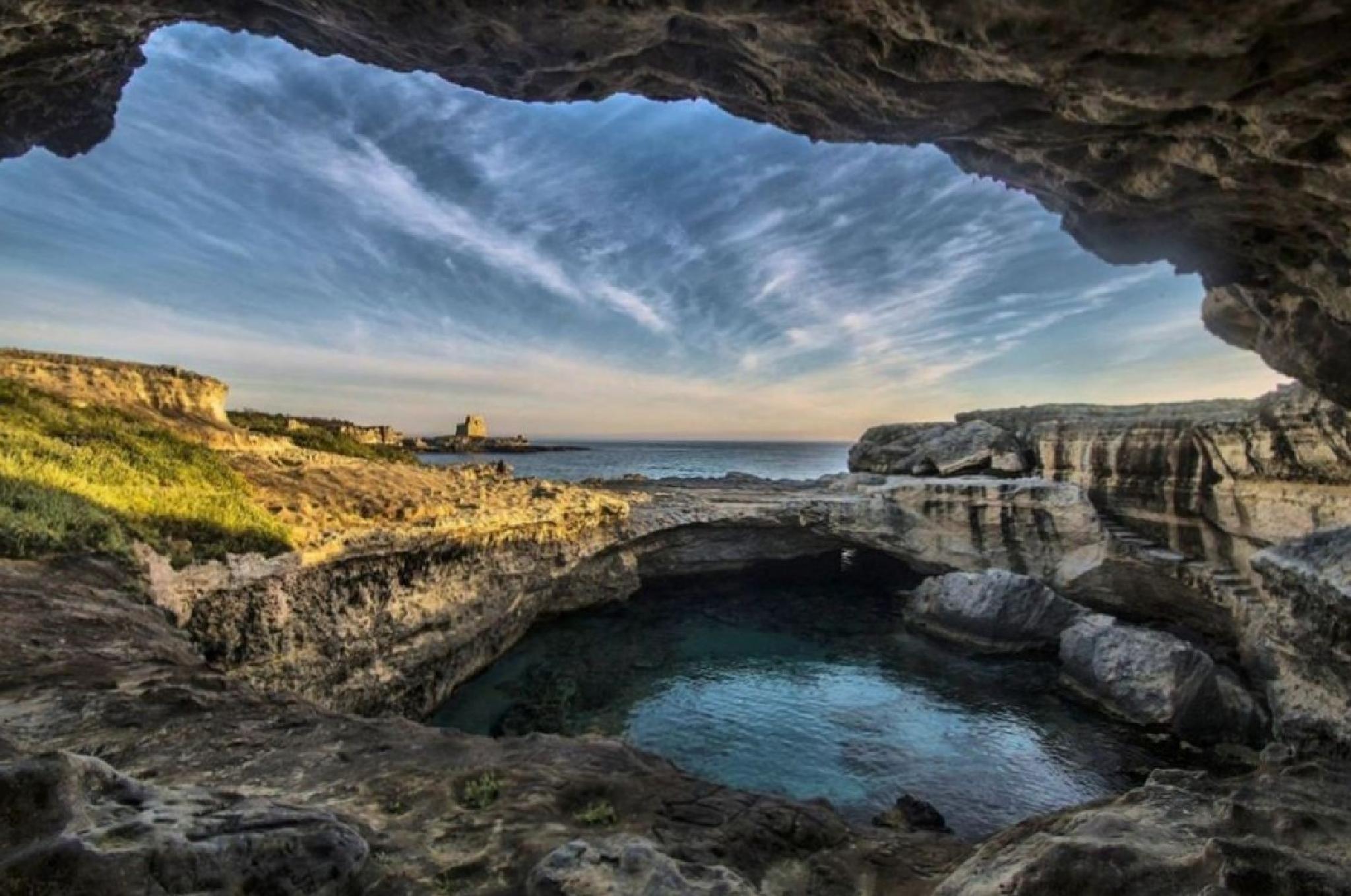 La grotta della Poesia Roca Vecchia (LE) by Amleto Lala