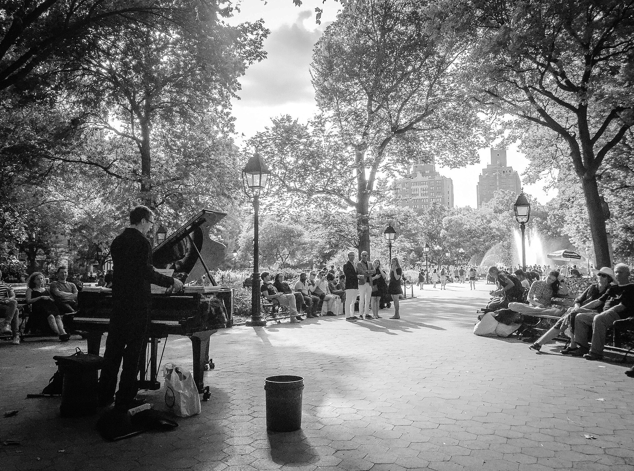 Man in Washington Square by Loralyn