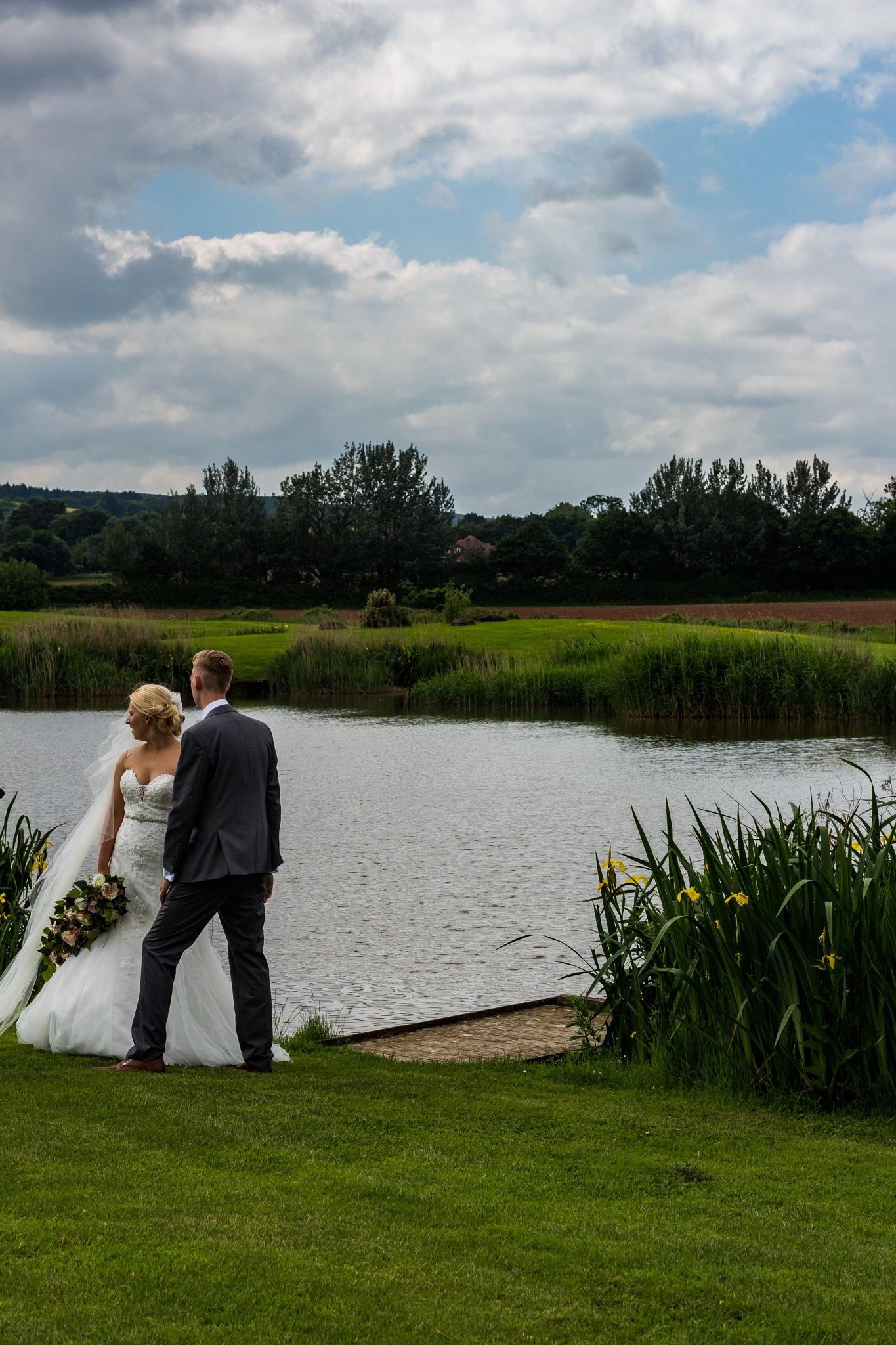 Wedding by the lake by Eden Perry-Thorne