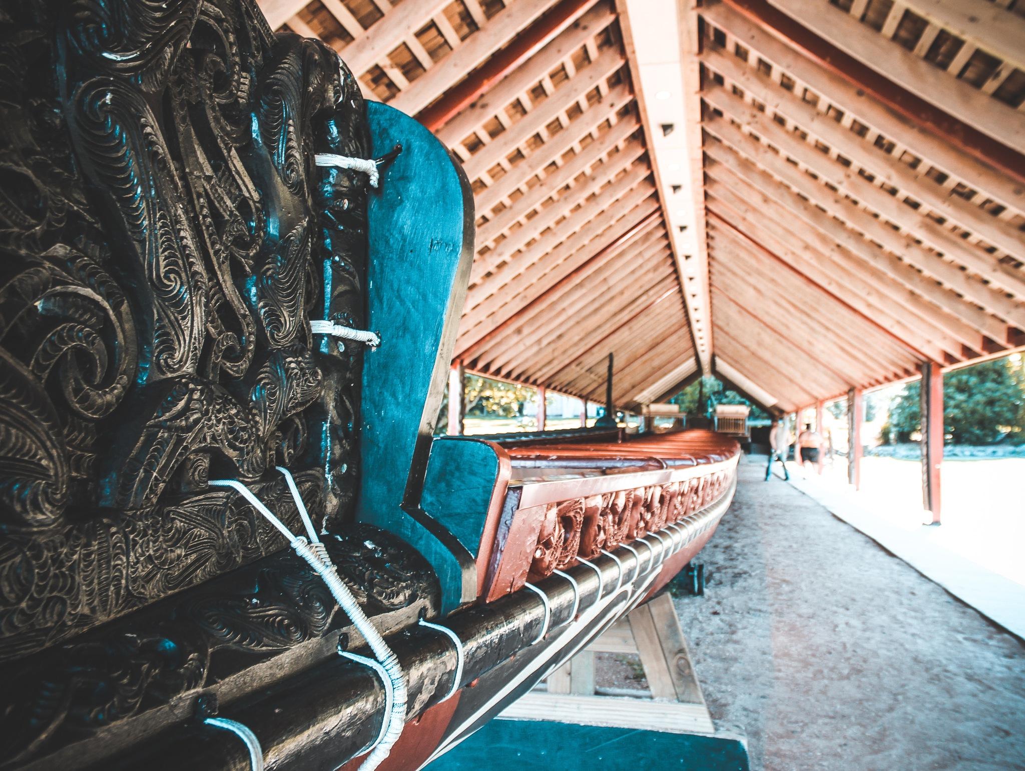 A māori war canoe by Eden Perry-Thorne