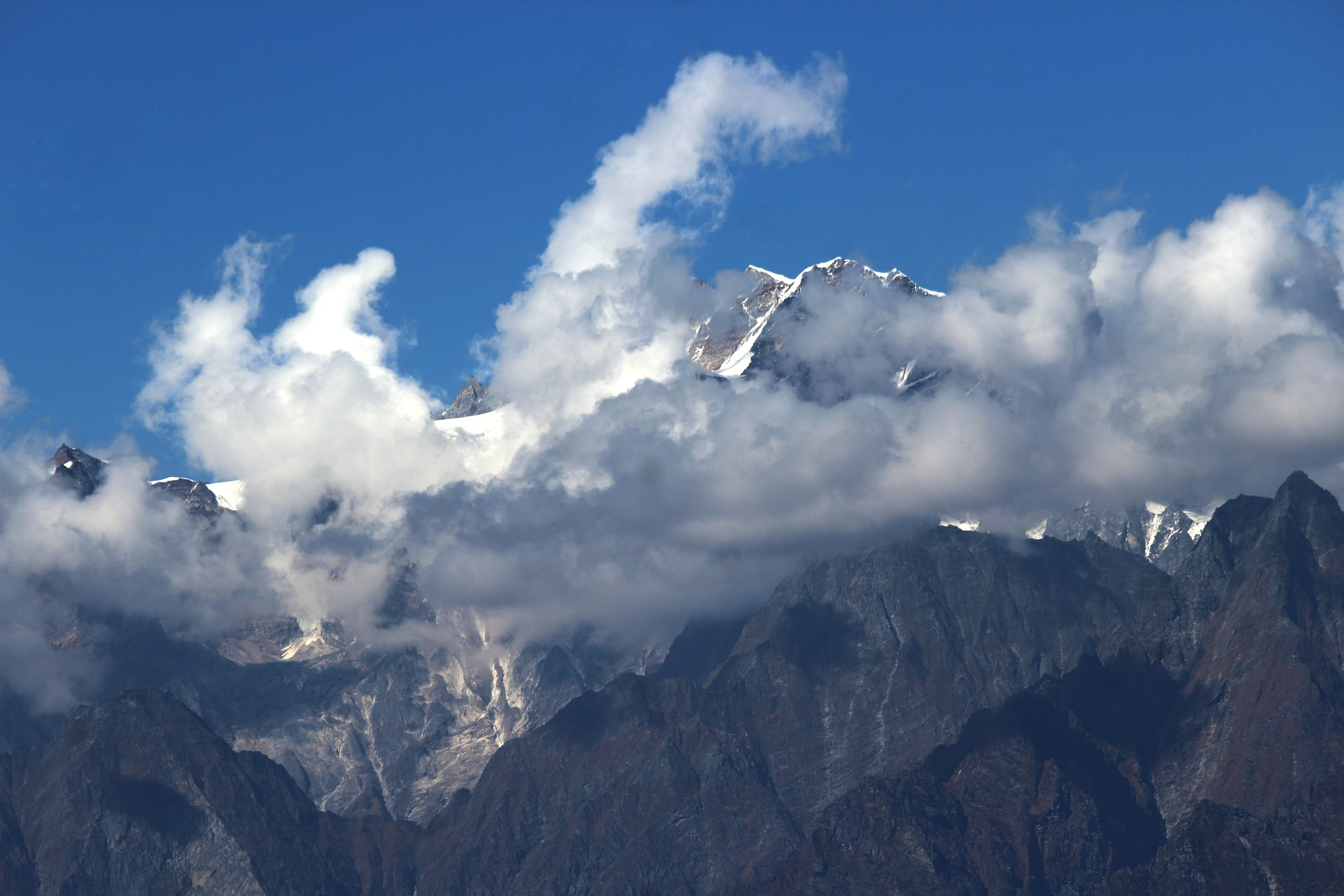 CLOUD HUGGING MOUNTAIN by Susobhan Biswas