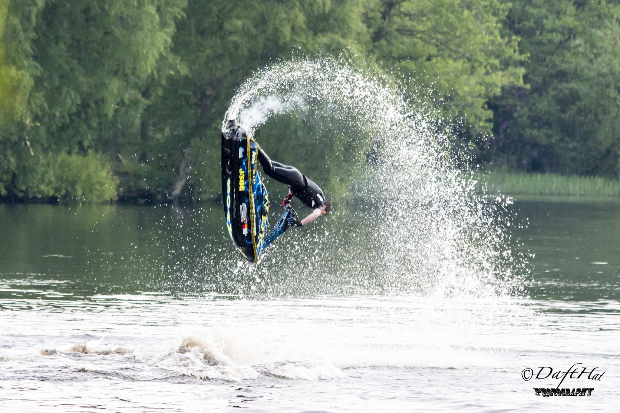 jet ski tricks by Vincent Yates