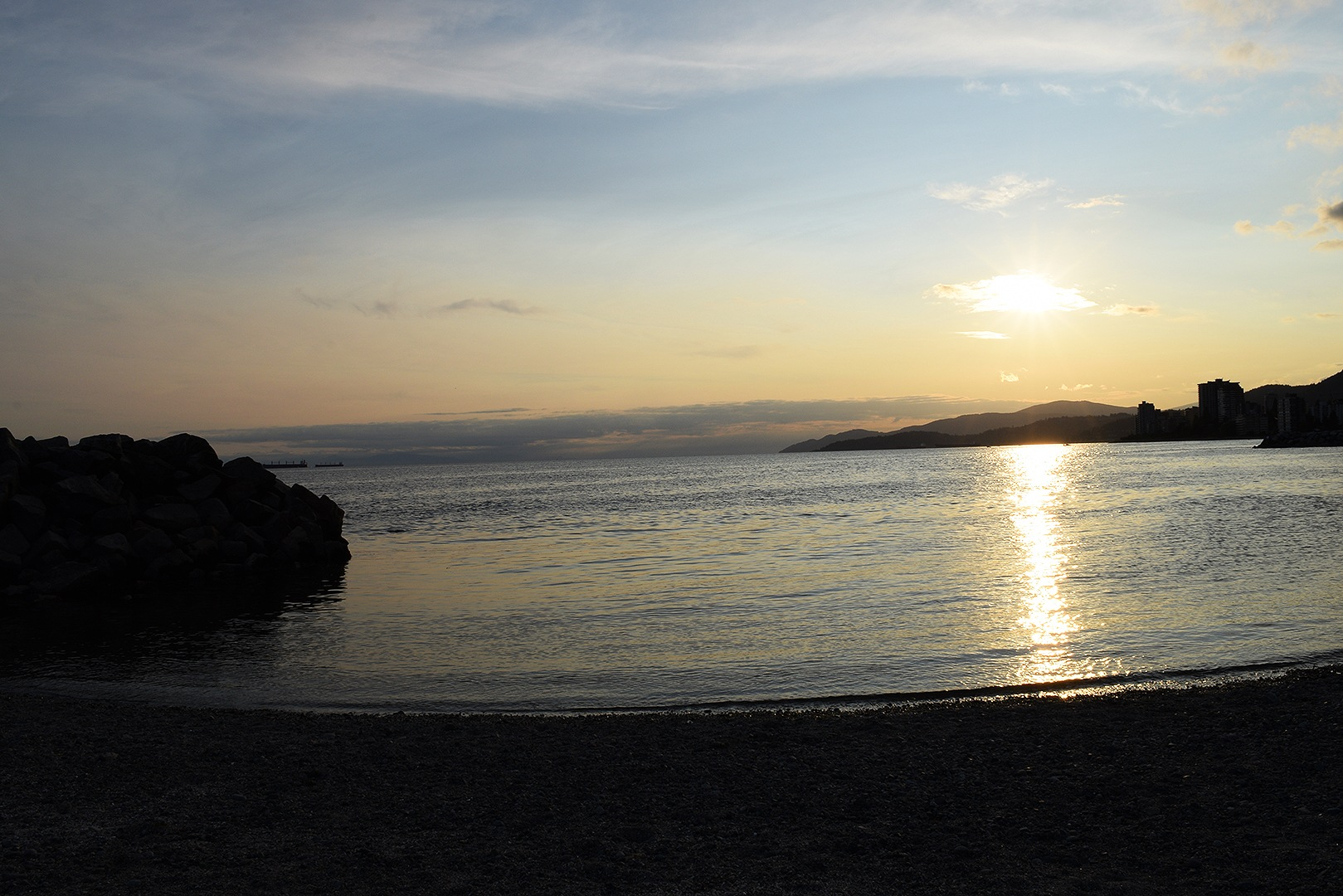 Sunset on the Ambleside beach, West Vancouver, BC Canada by #gregozphotos