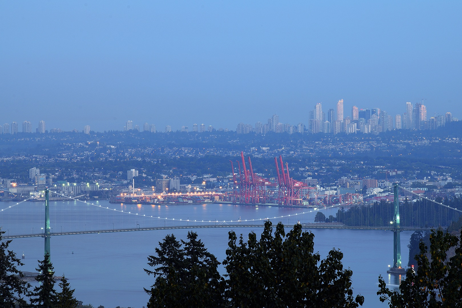 Standing at West Vancouver, looking towards Vancouver and Burnaby by #gregozphotos