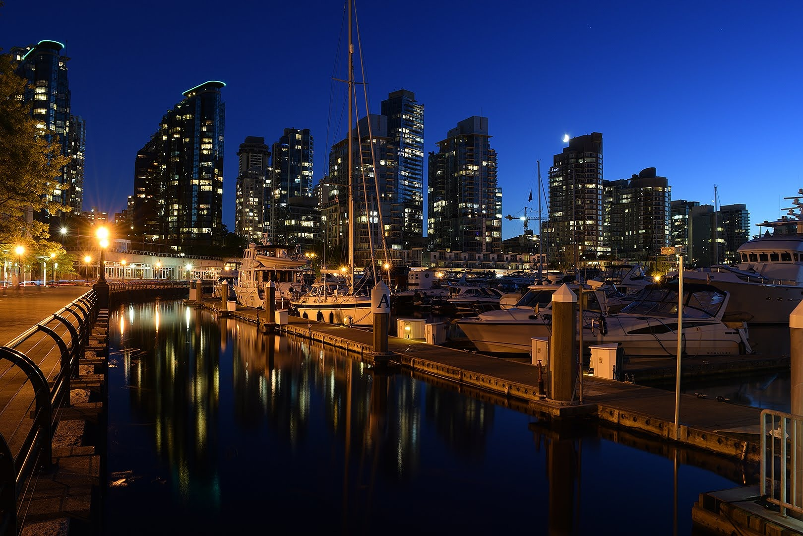 Coal Harbour at night Vancouver, BC, Canada by #gregozphotos