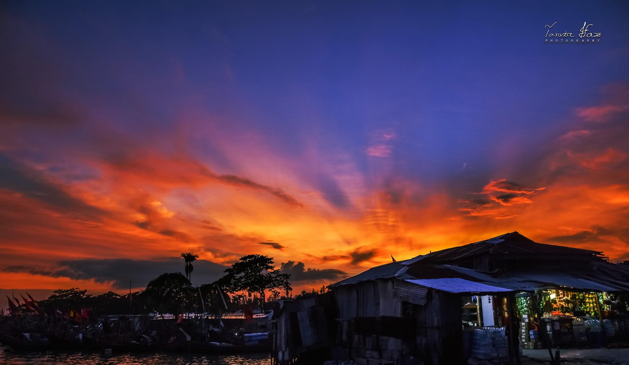 Fallen Evening. by Tanvir IFAZ