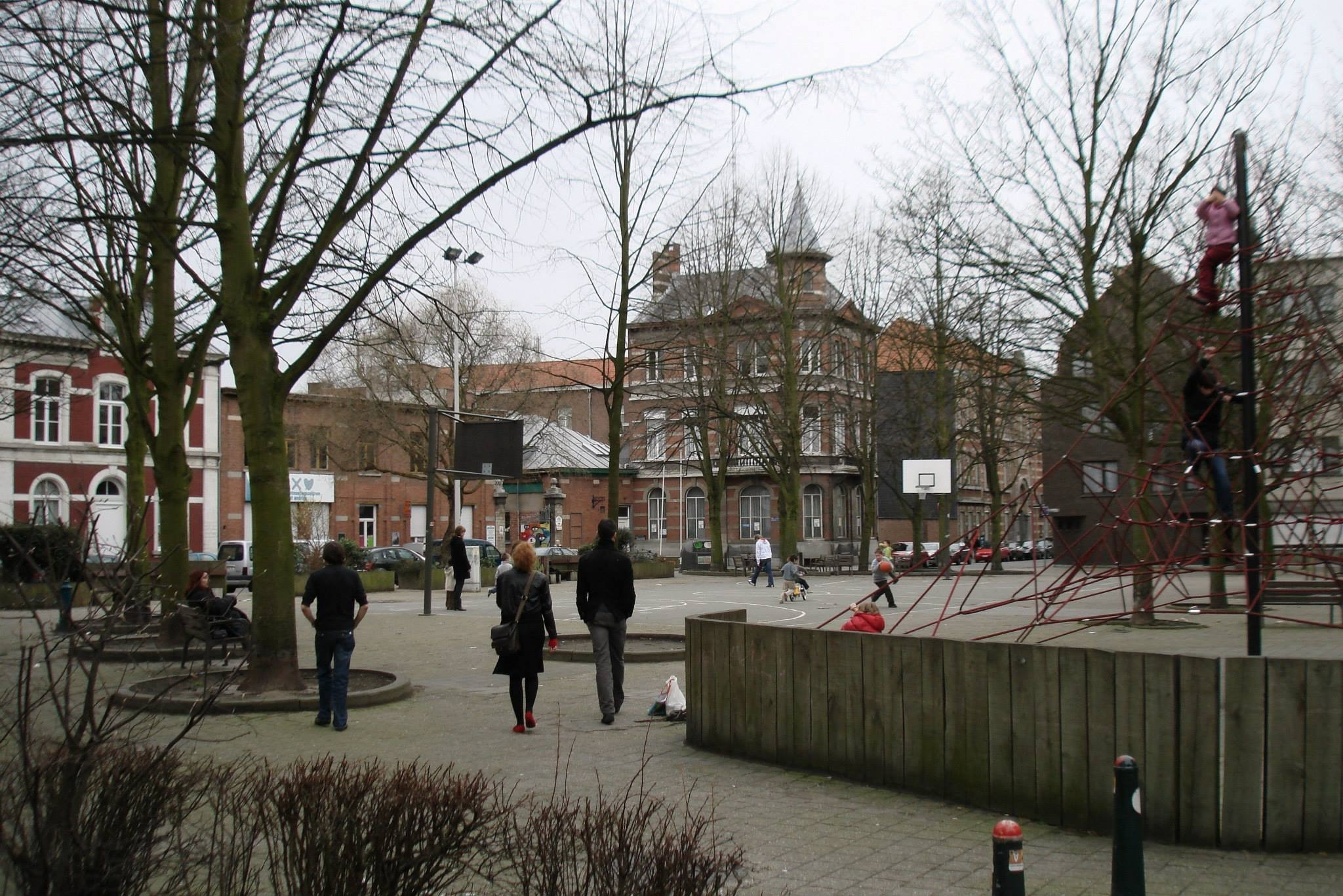 Antwerp, Belgium St. Andrew square in the sailors district by Rosario Di Rubbo