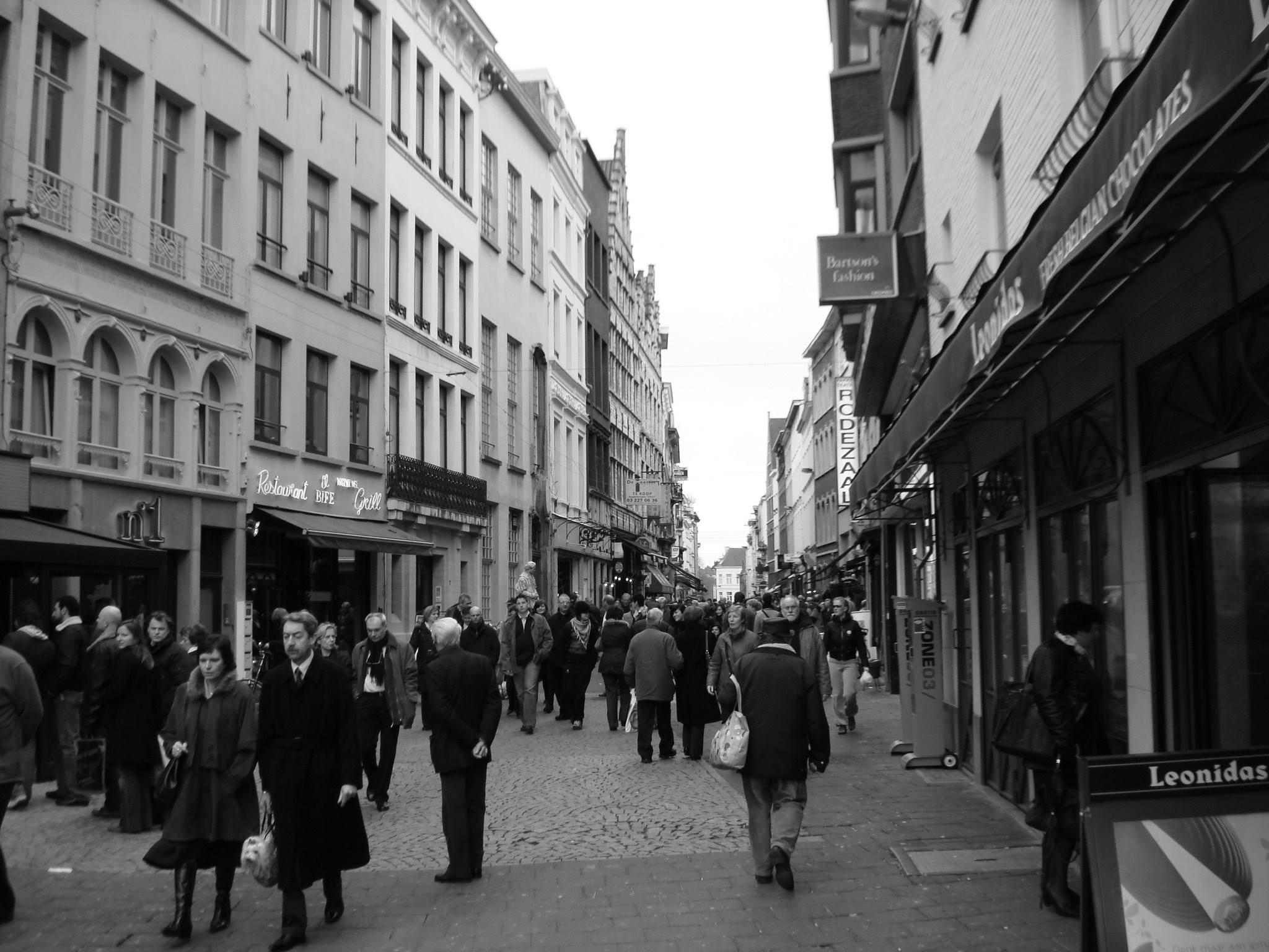 Antwerp, Belgium Hoogstraat, almost a vintage view by Rosario Di Rubbo