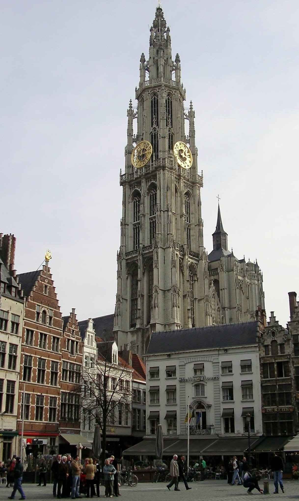 Antwerp, Belgium Cathedral of Our Lady from the Big Market Square by Rosario Di Rubbo
