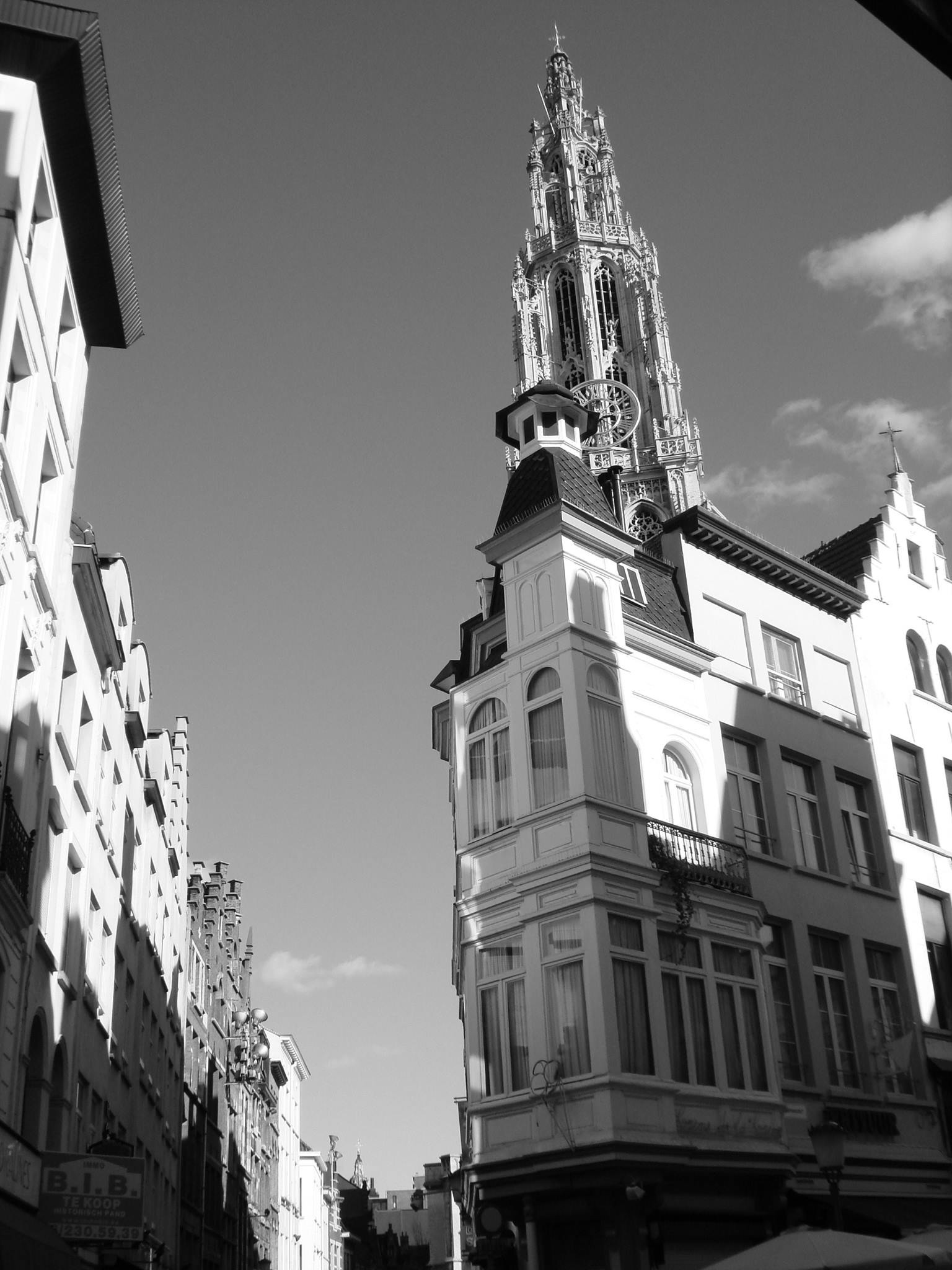 Antwerp, Belgium the omnipresent tower by Rosario Di Rubbo