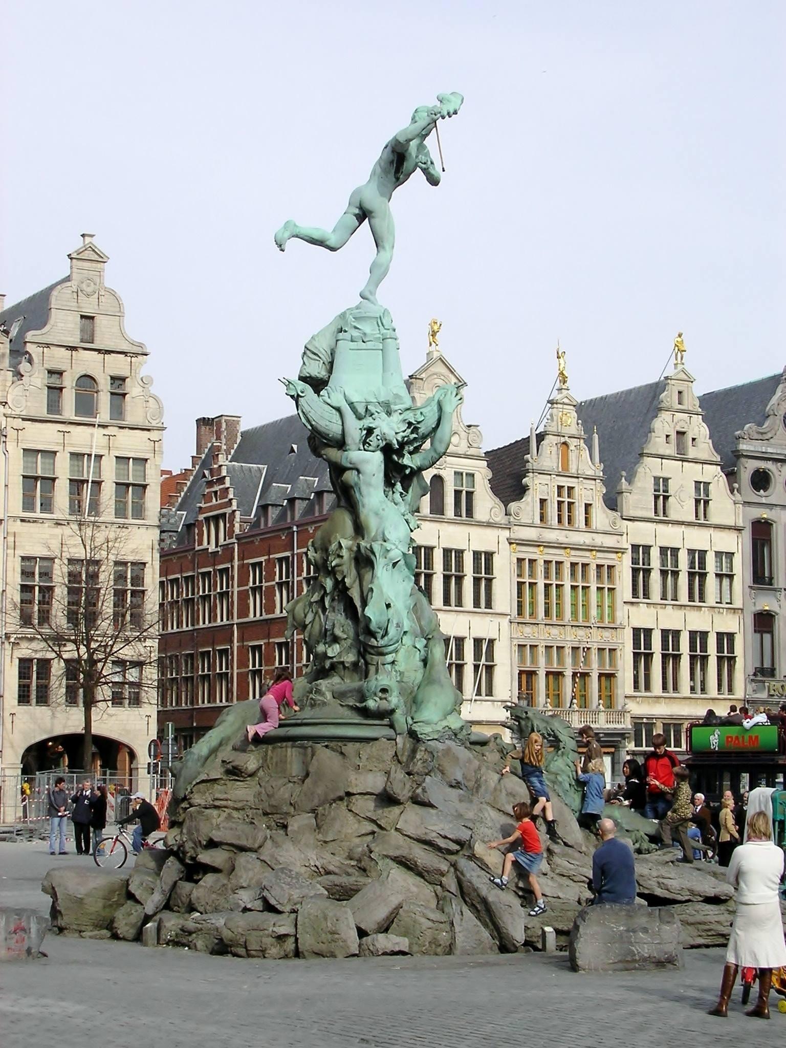Antwerp, Belgium Brabo Fountain on the Big Market Square by Rosario Di Rubbo