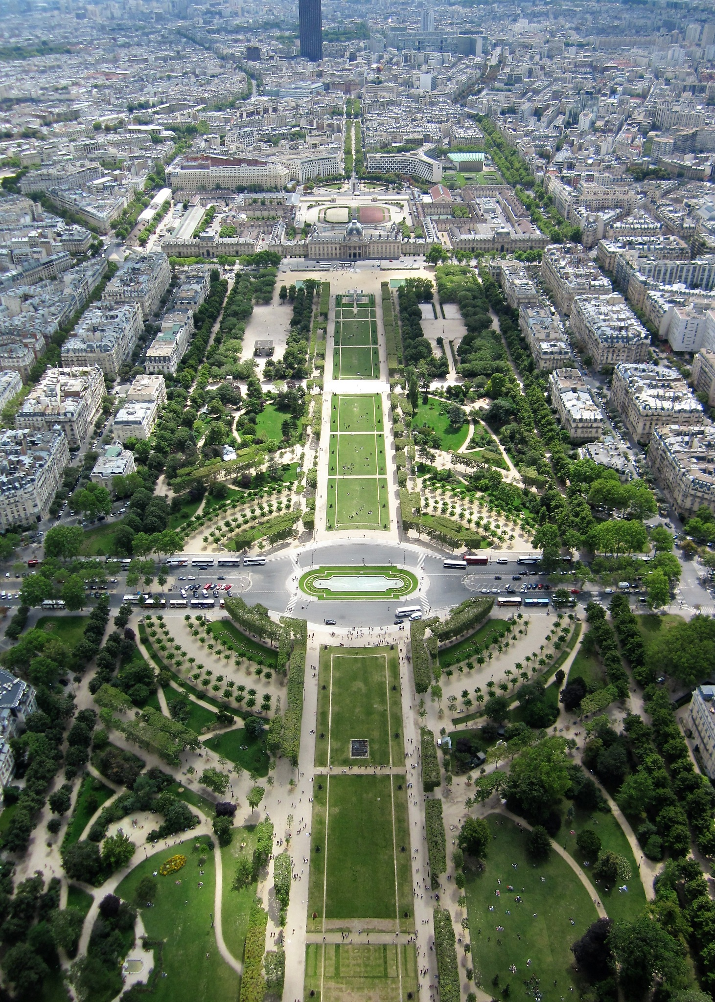 Paris, France, view from the Tour Montparnasse, below Jardins du Luxembourg. by Rosario Di Rubbo
