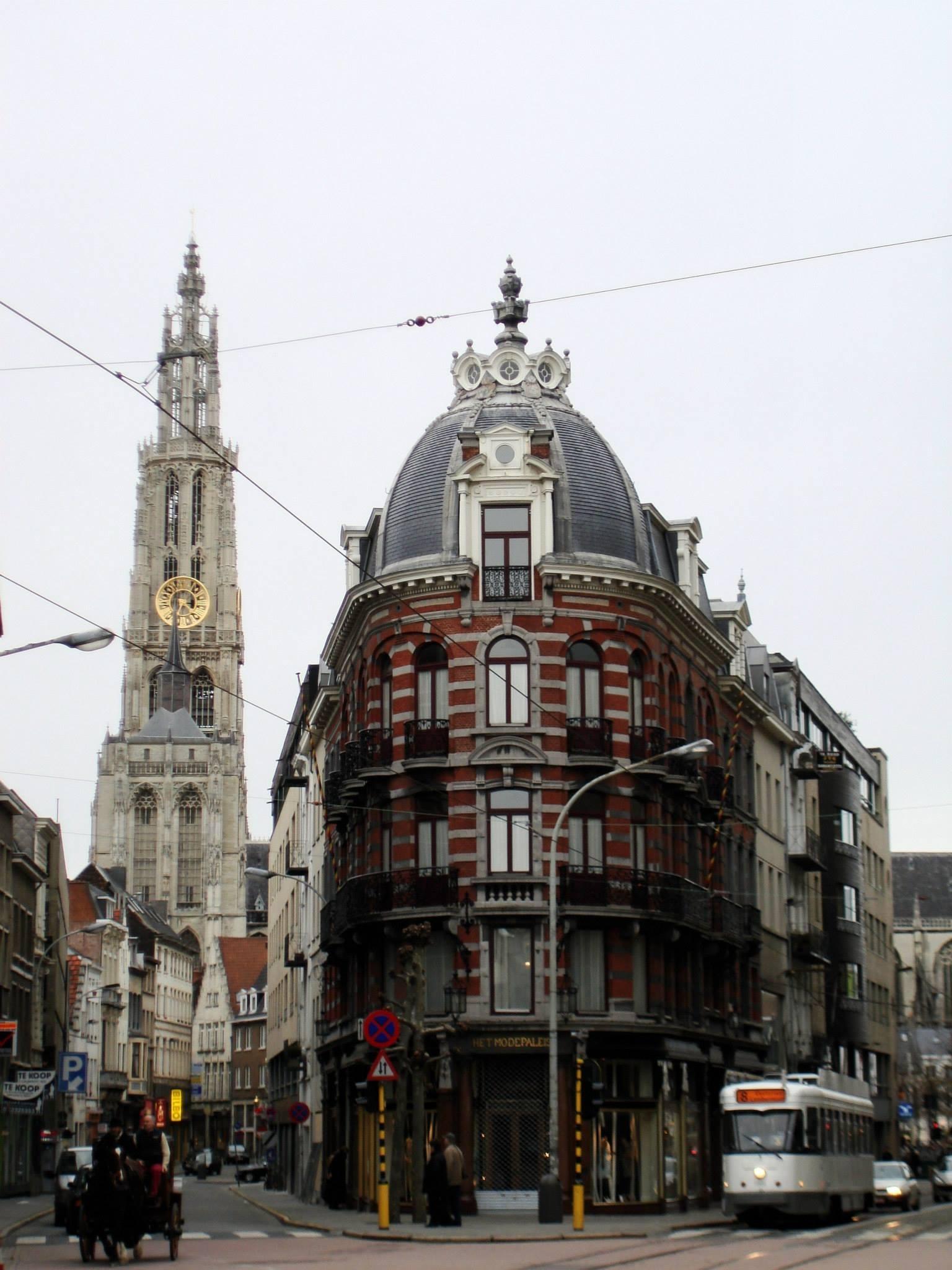 Antwerp, Belgium blurry street view... by Rosario Di Rubbo