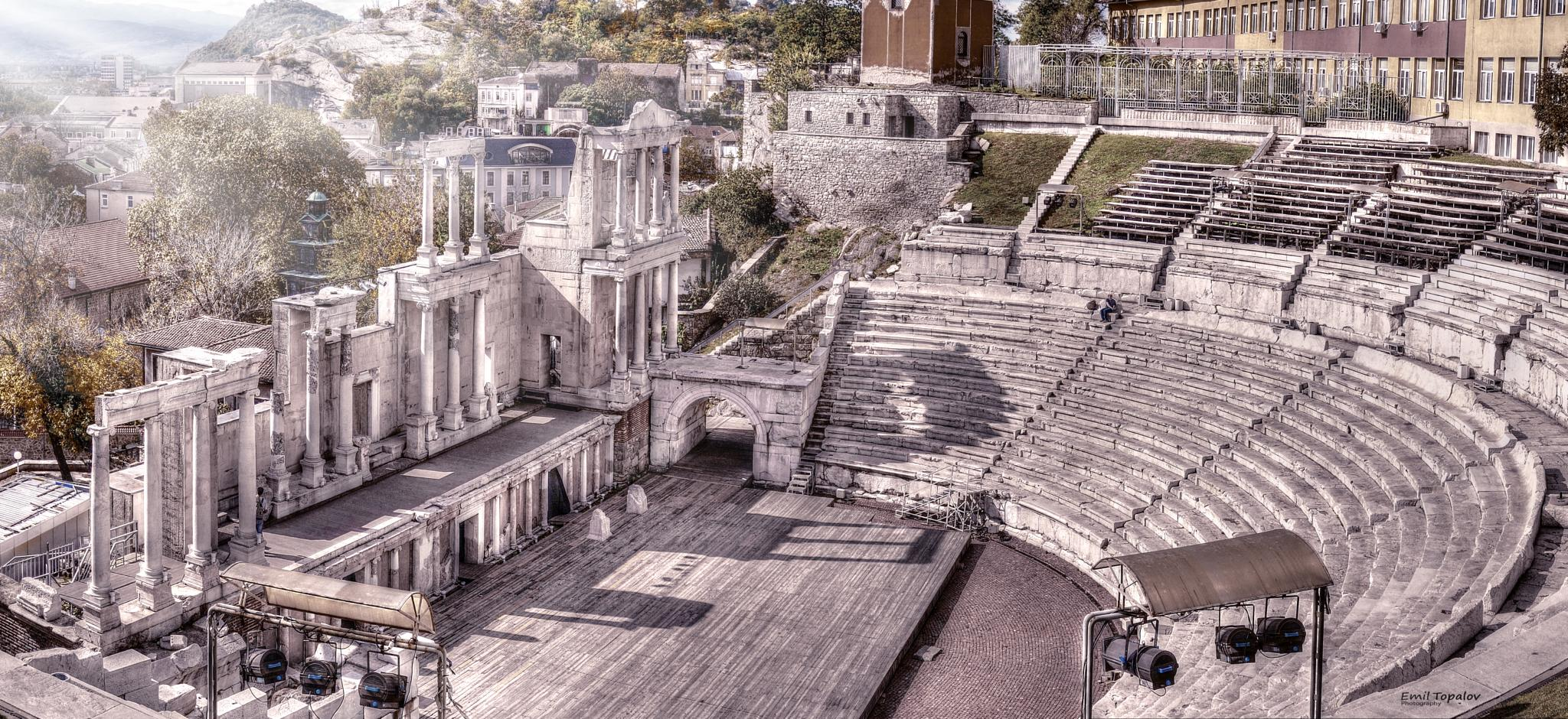 Ancient theater in Plovdiv by Emil Topalov